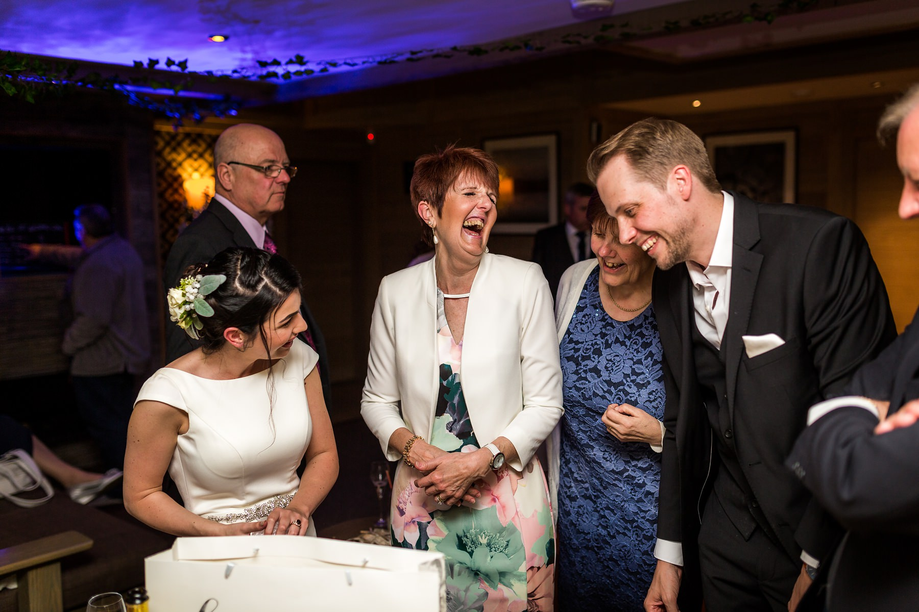 guests laughing together