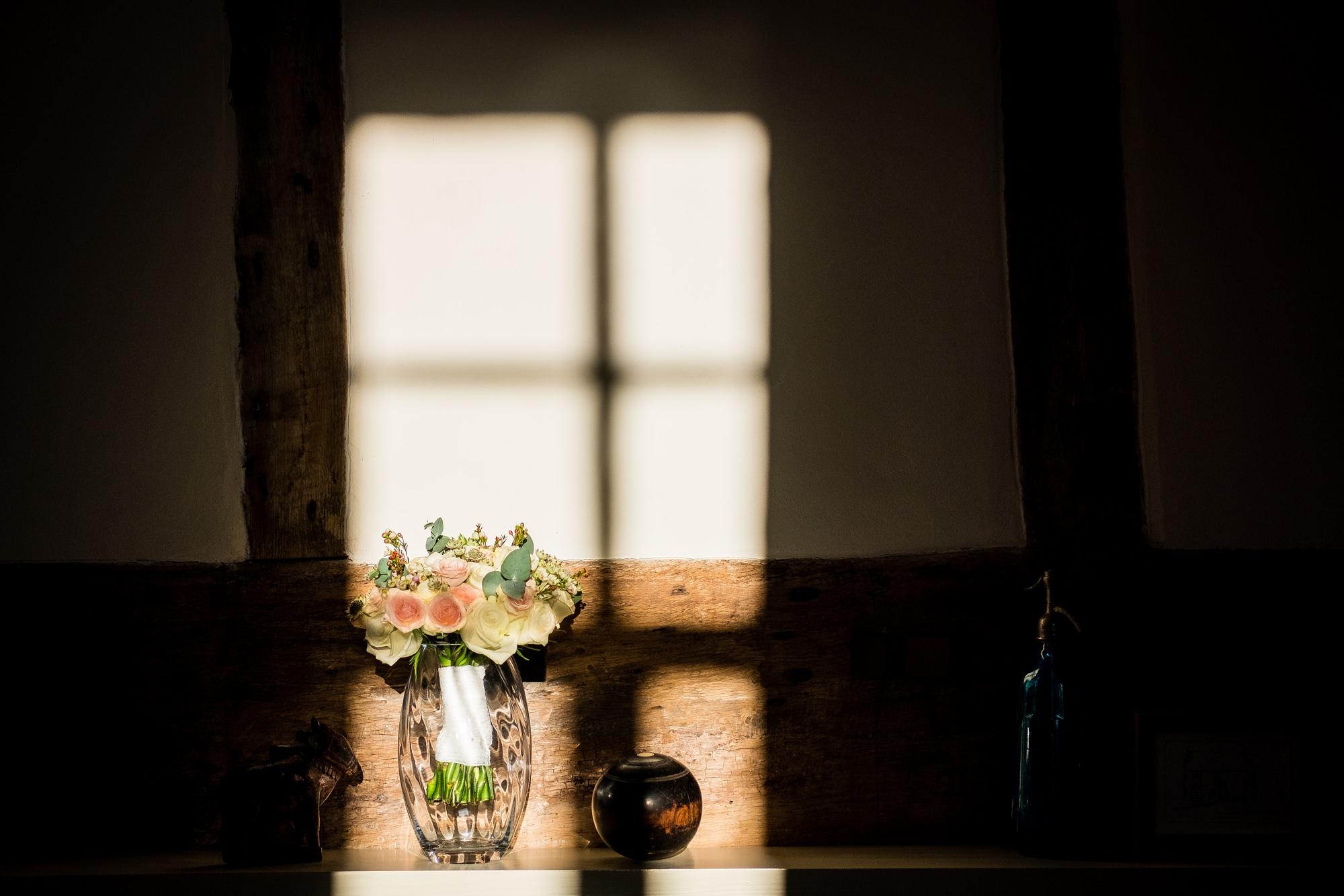 wedding flowers in sunlight