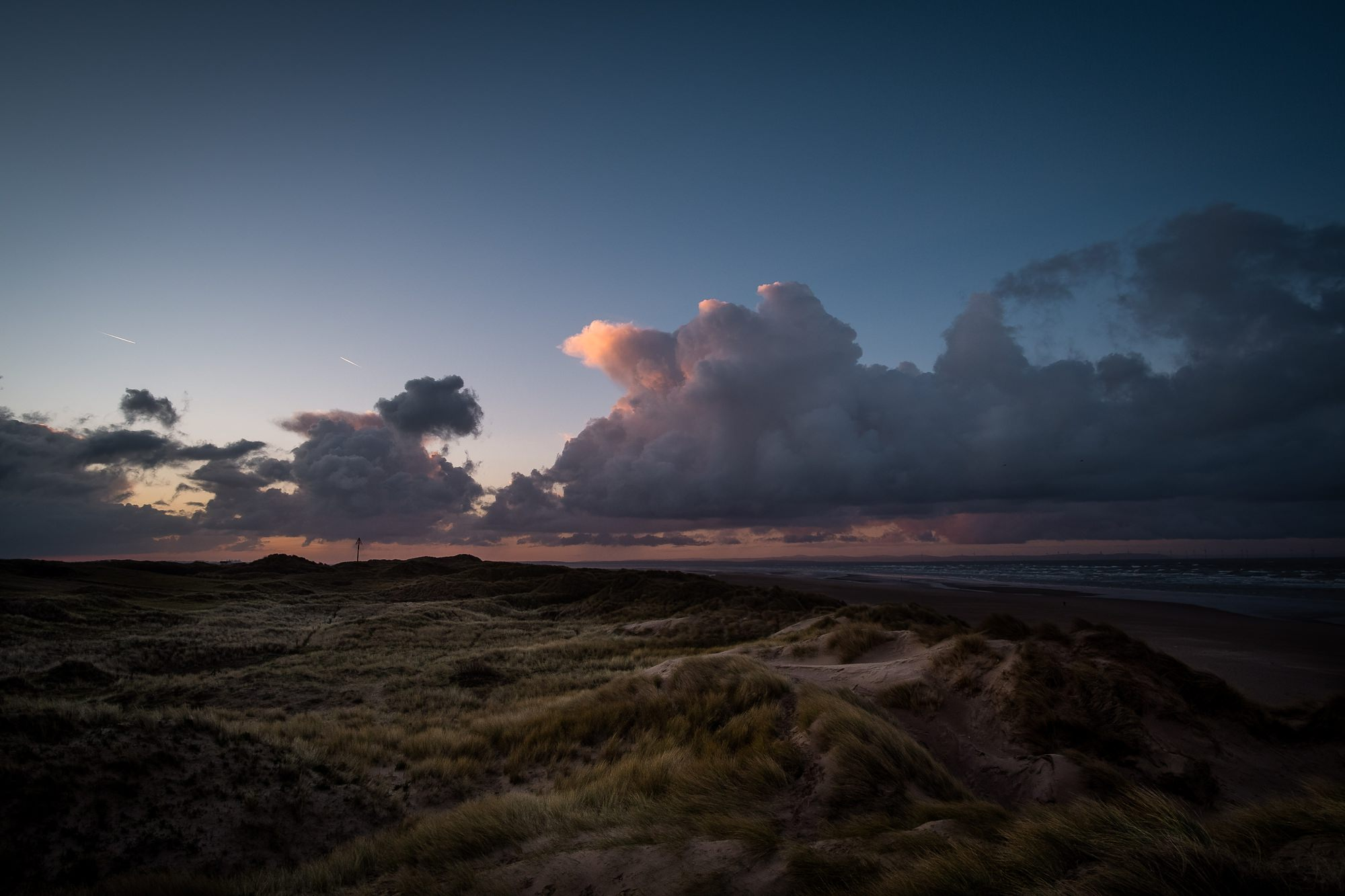 formby beach during sunrise