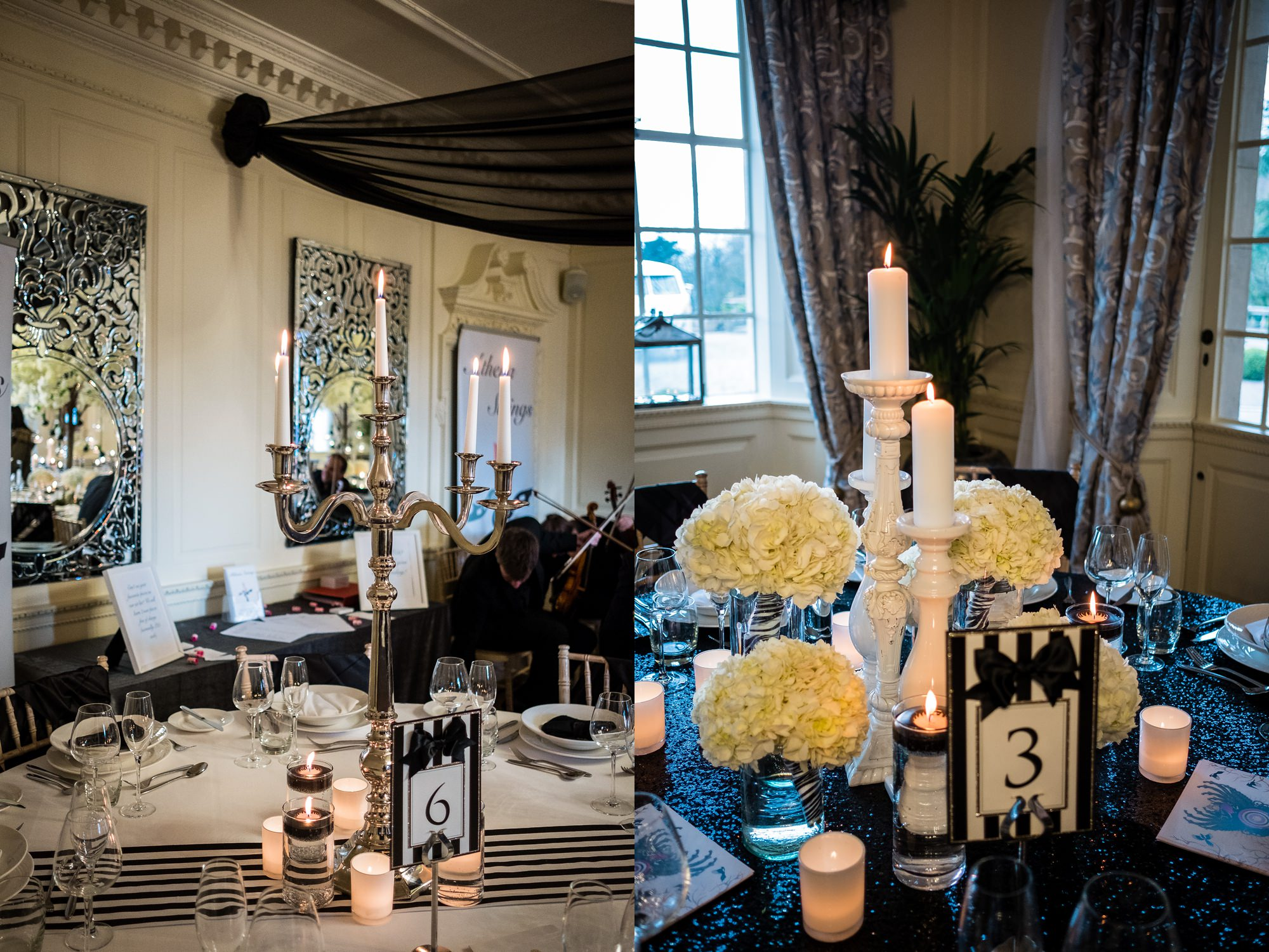 the wedding room at eaves hall, lancashire