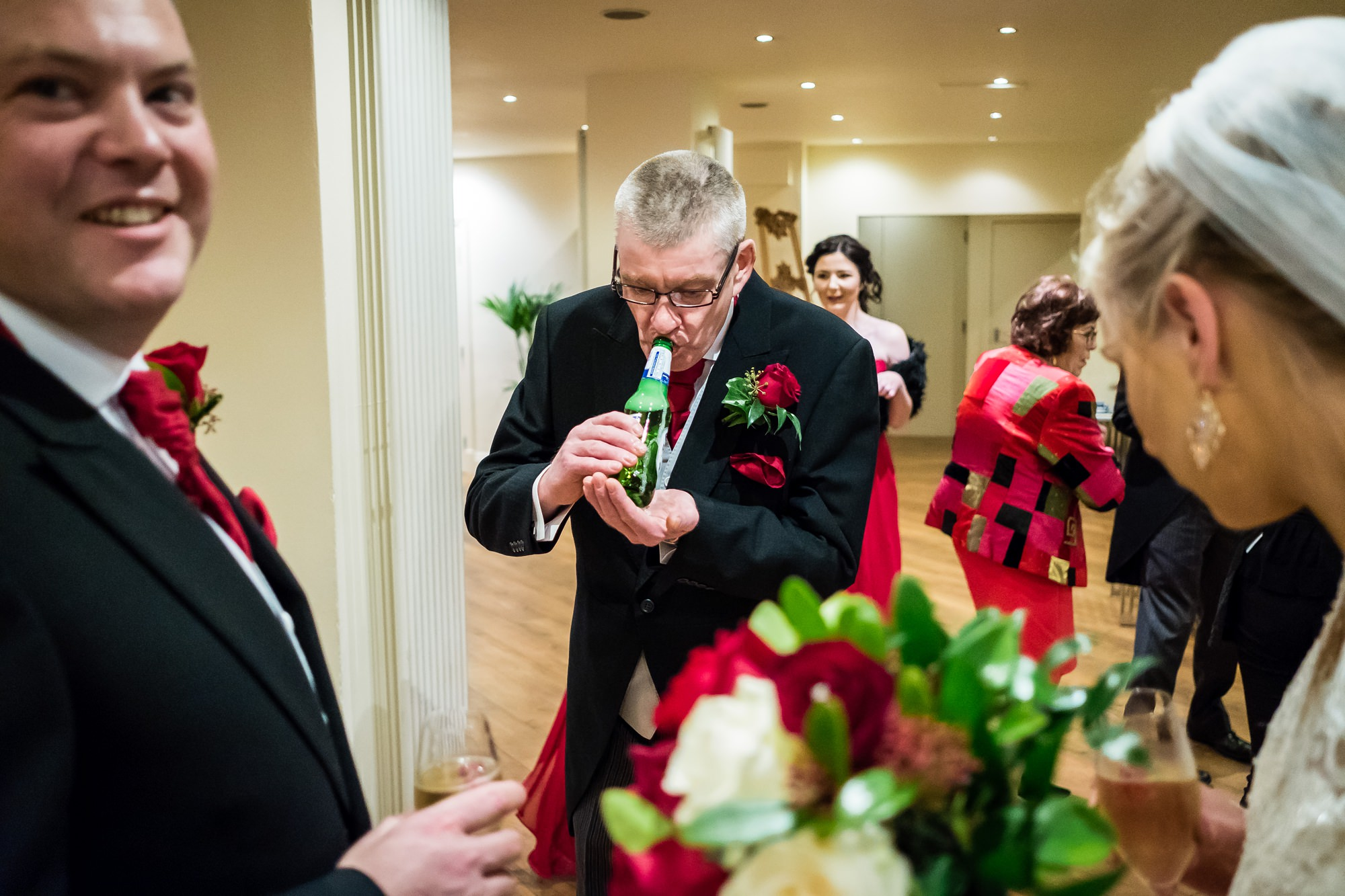father of the brides drink fizzing over
