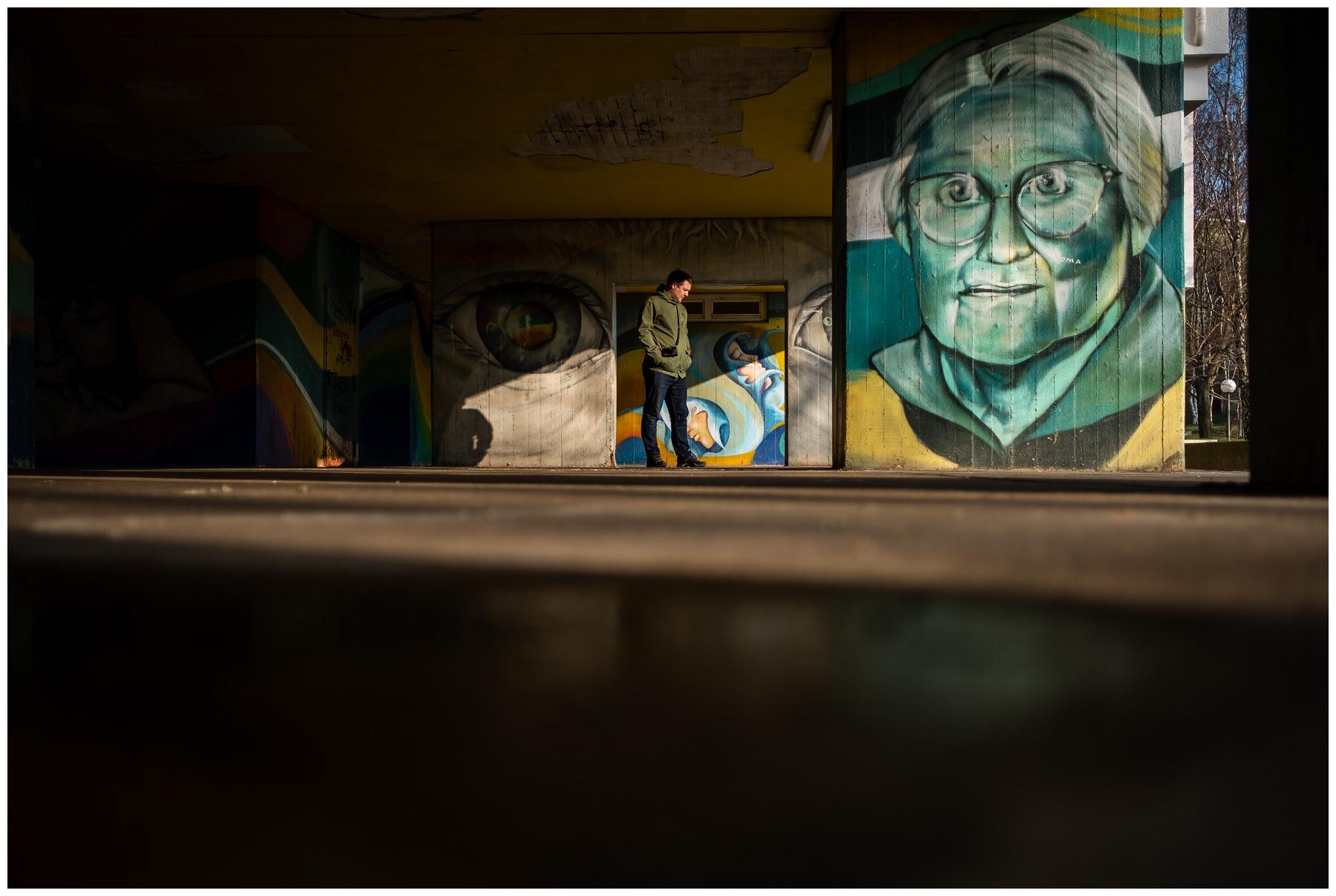 street graffiti portrait