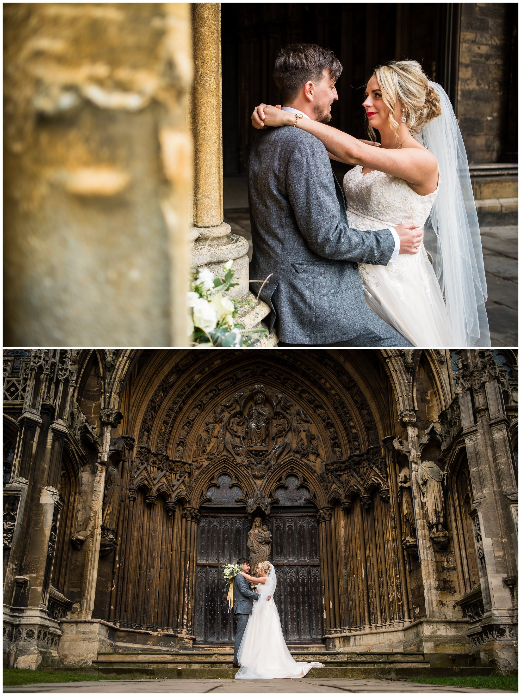 wedding portraits at cathedral