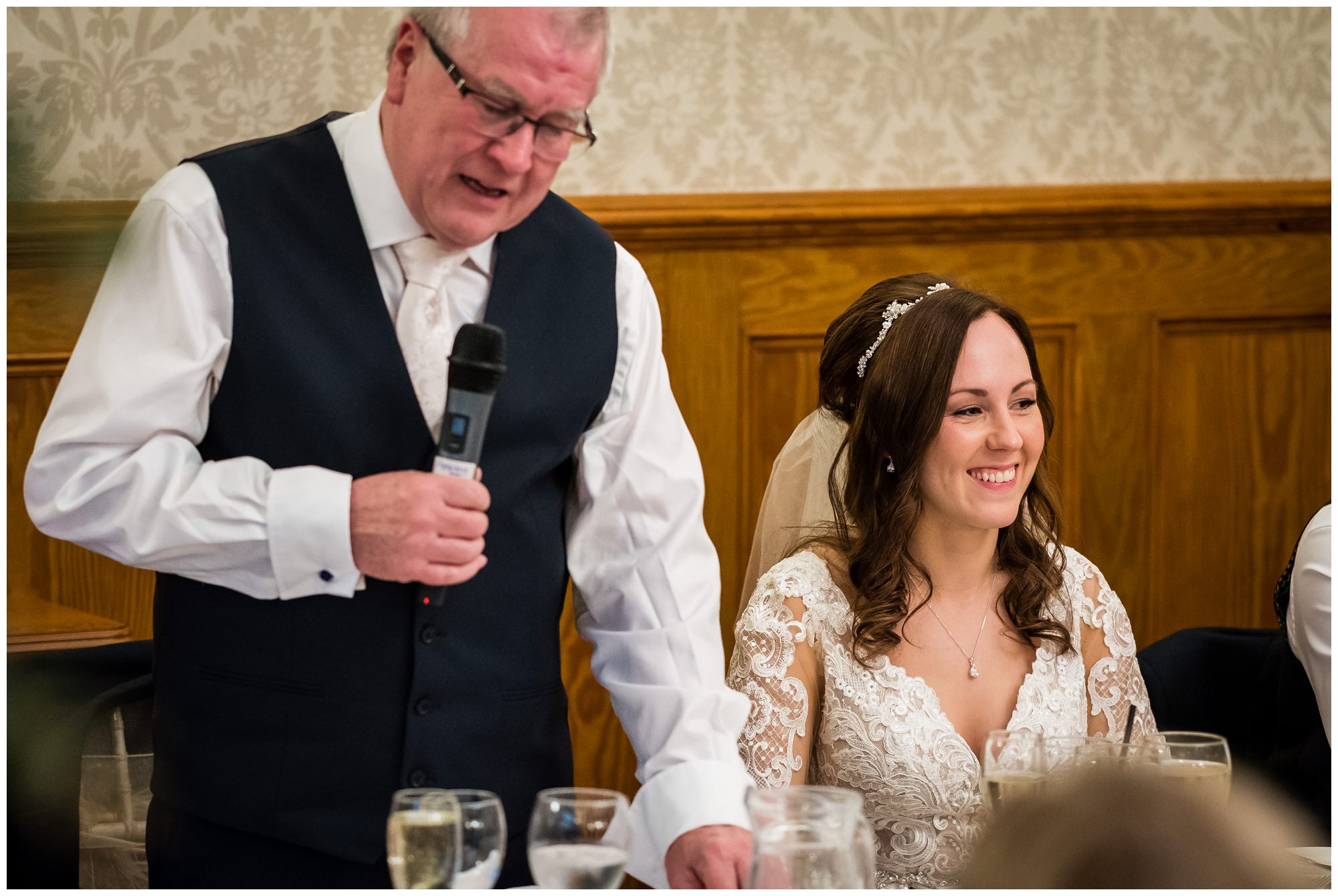 father of the bride giving speech