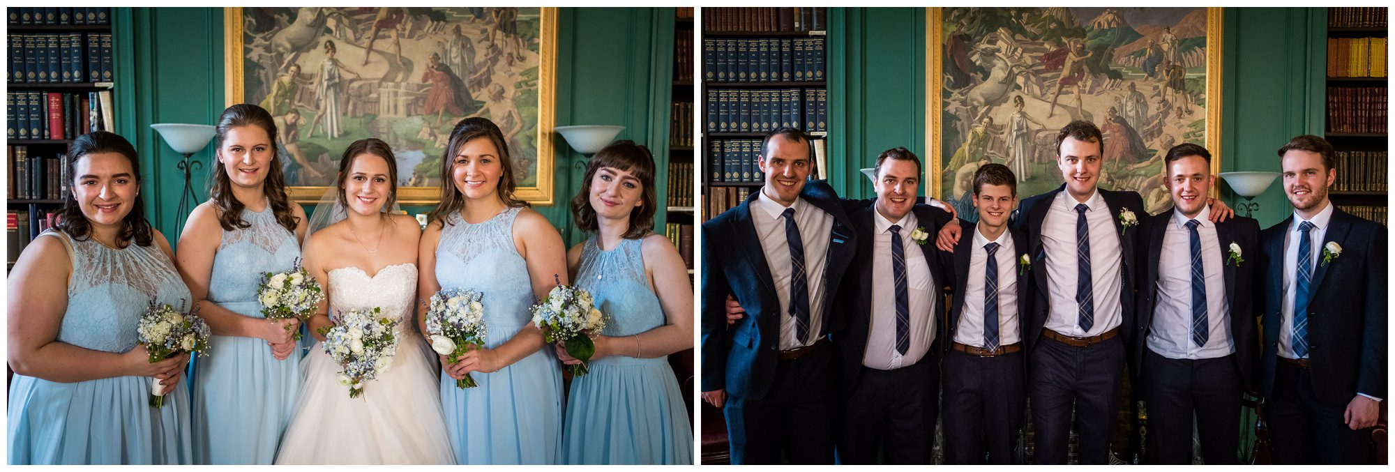 bridal party at the athenaeum, liverpool