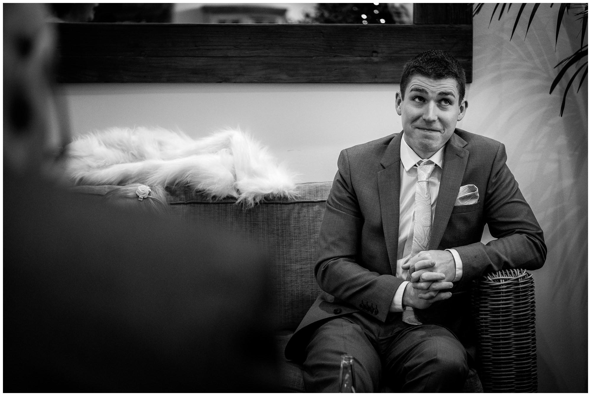 wedding guest sat down