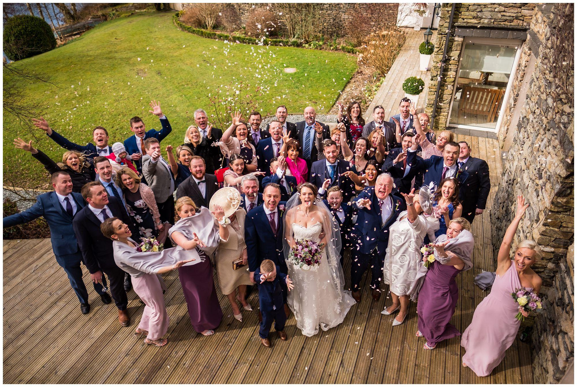 wedding guests in gardens