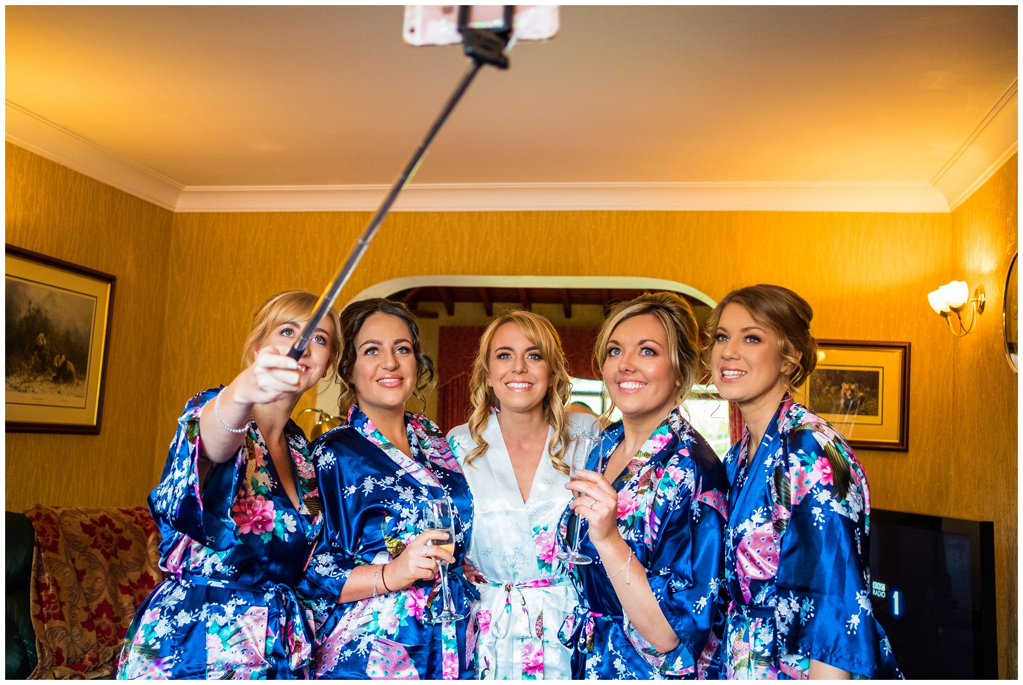 wedding girls doing a selfie