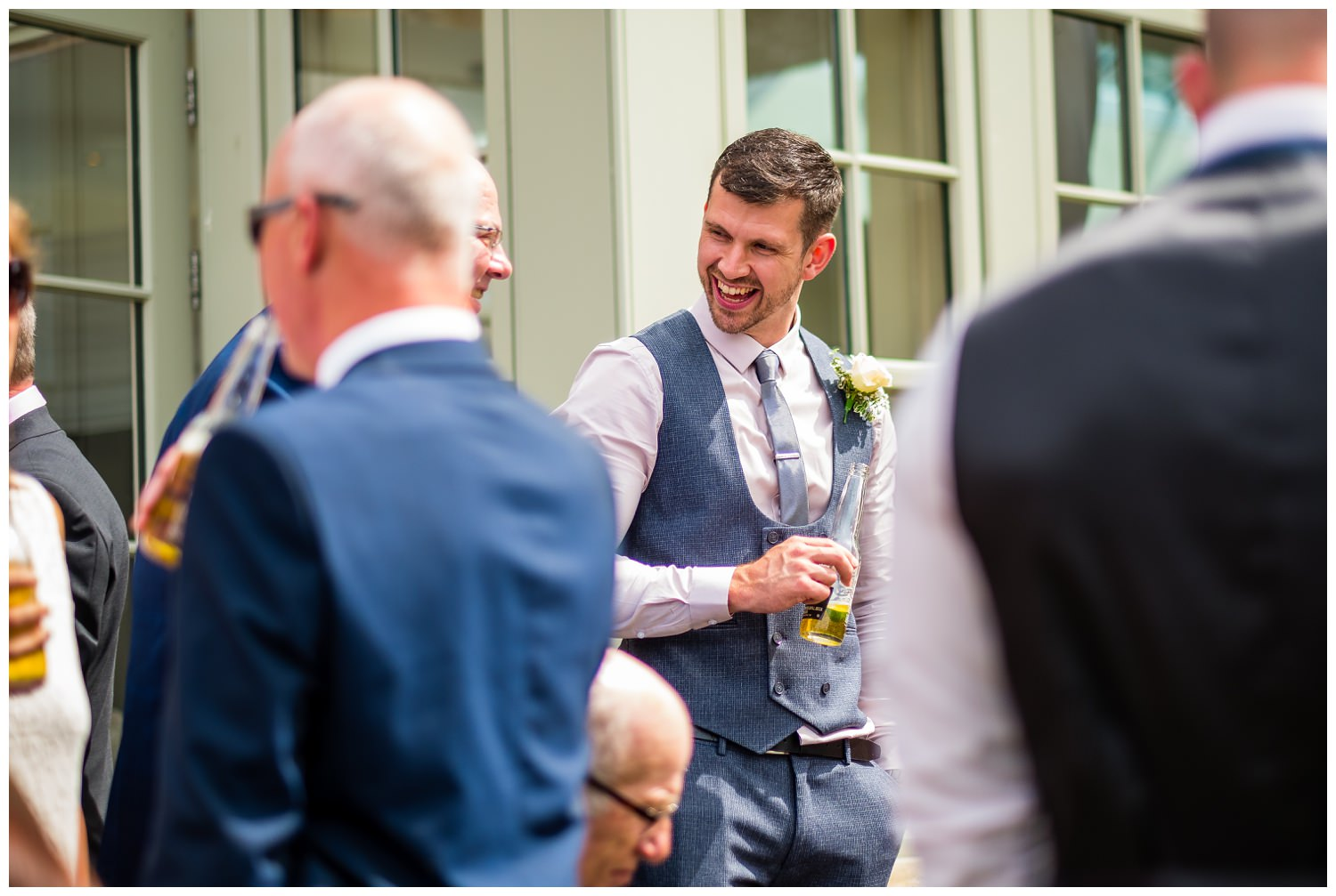 guest laughing at mitton hall