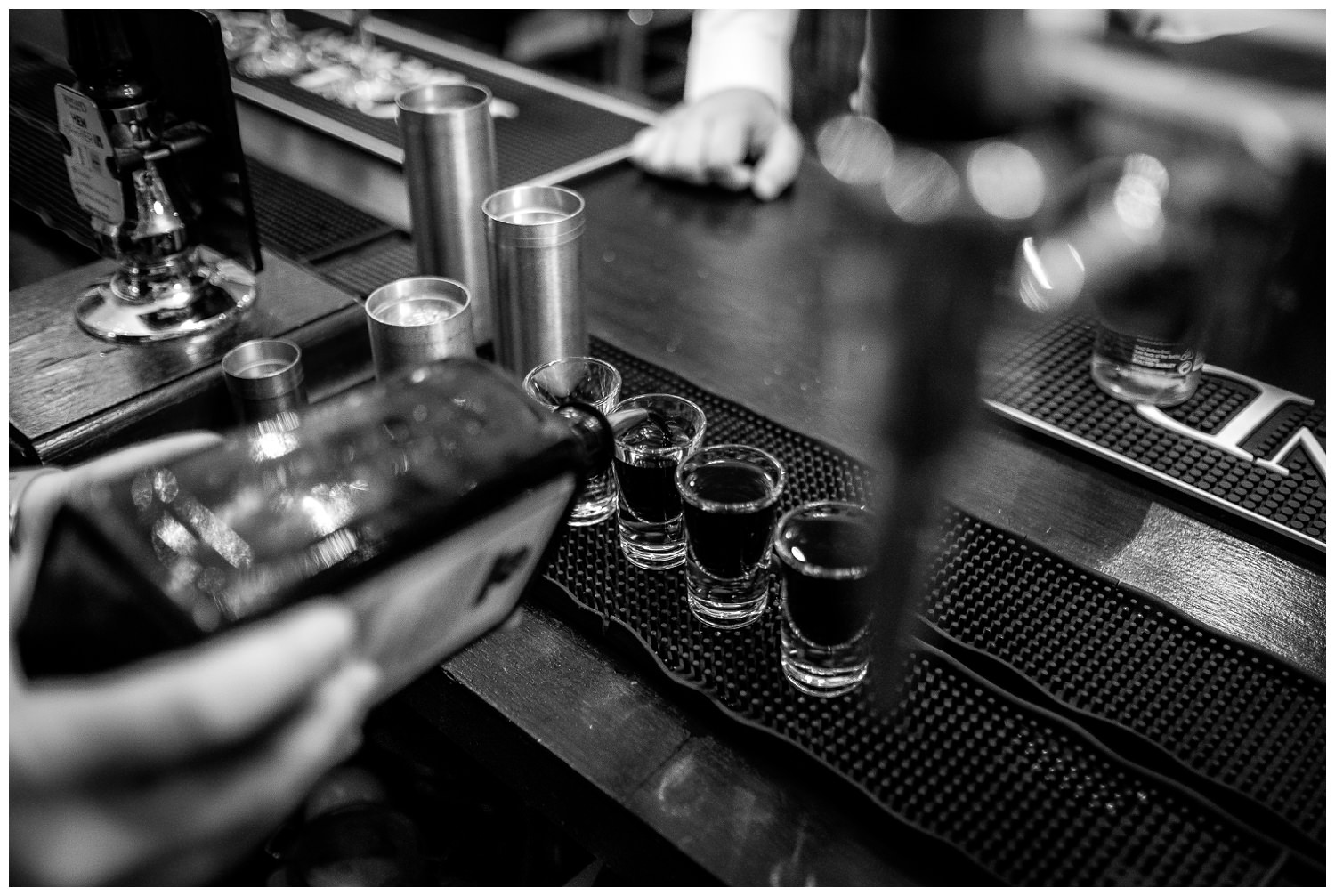 pouring shots