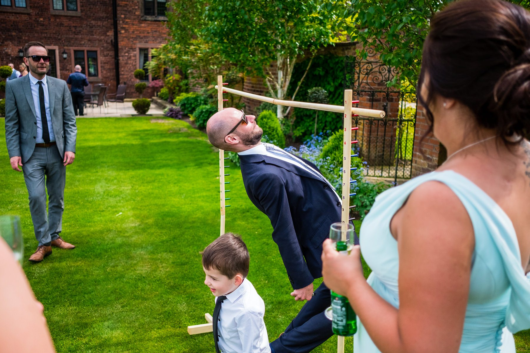 guests playing garden games