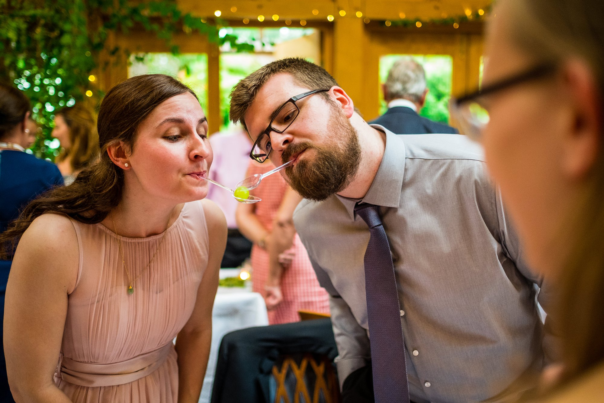 guests playing wedding games