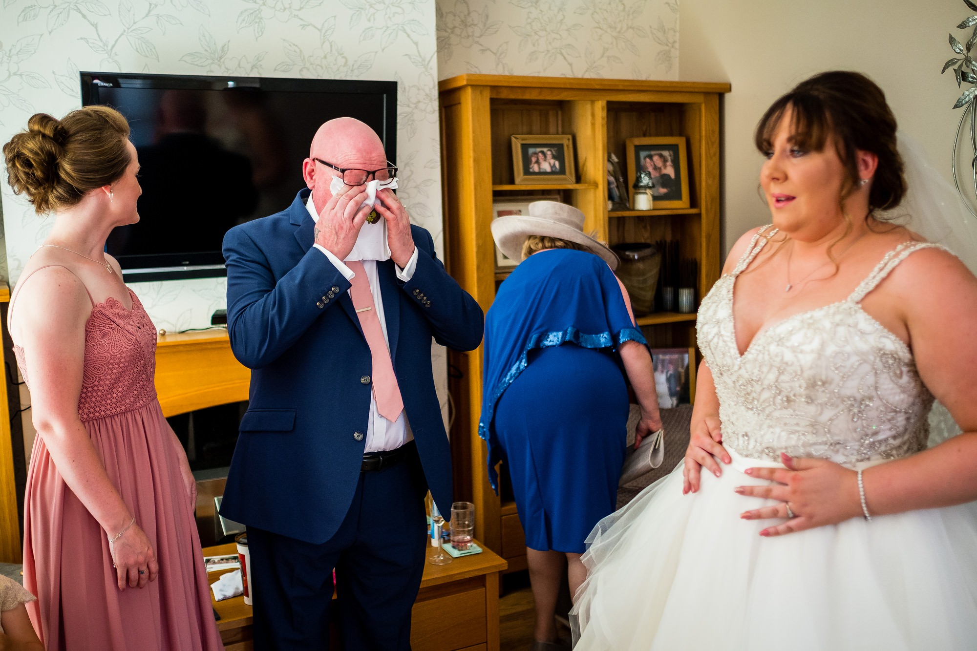 father of the bride crying