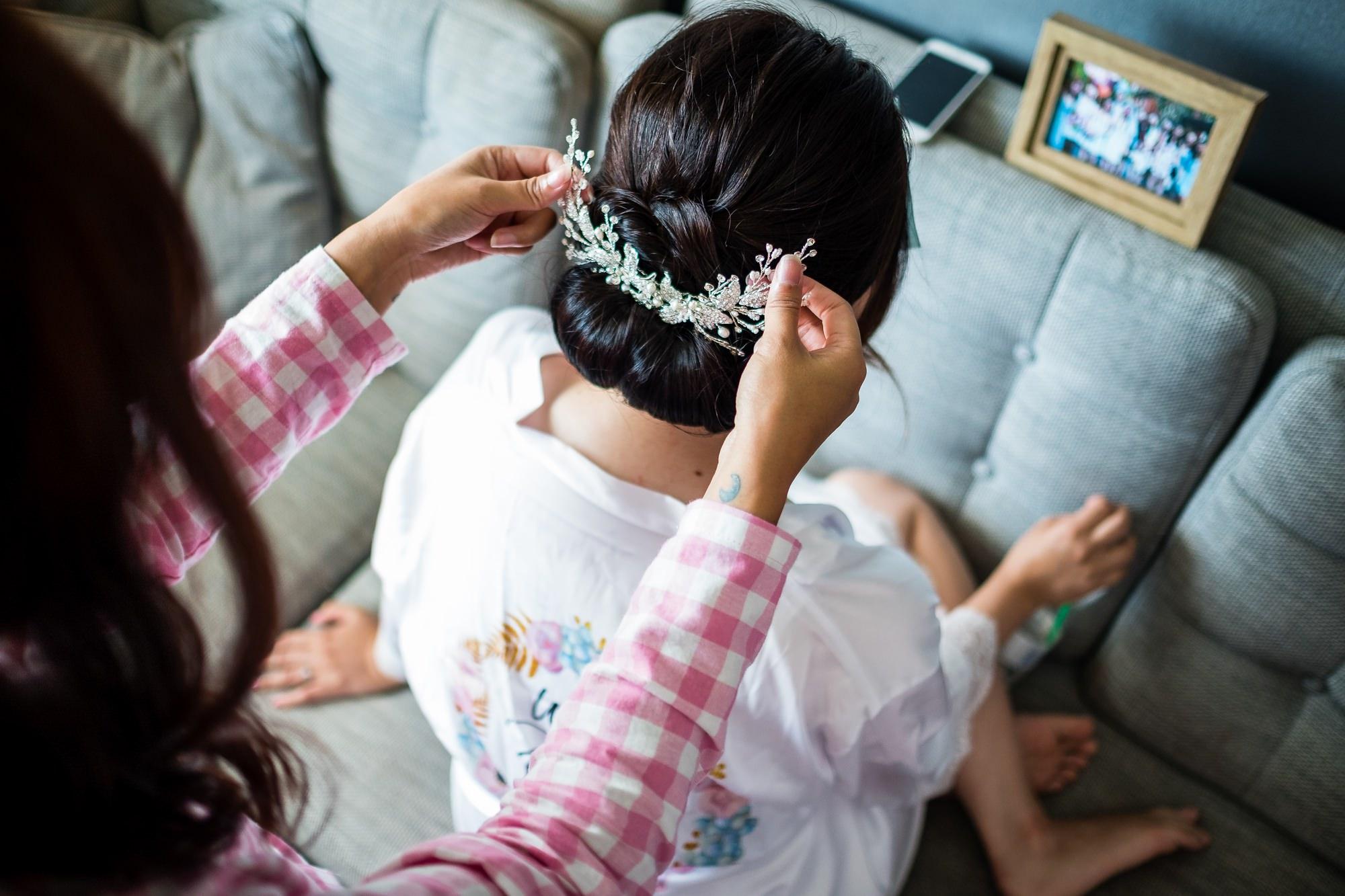 brides head piece
