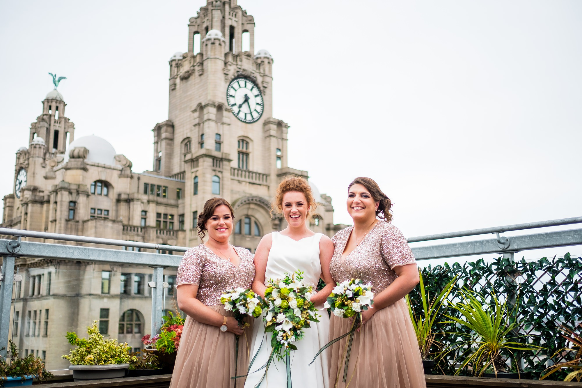 bride with bridesmaids at oh me, oh my