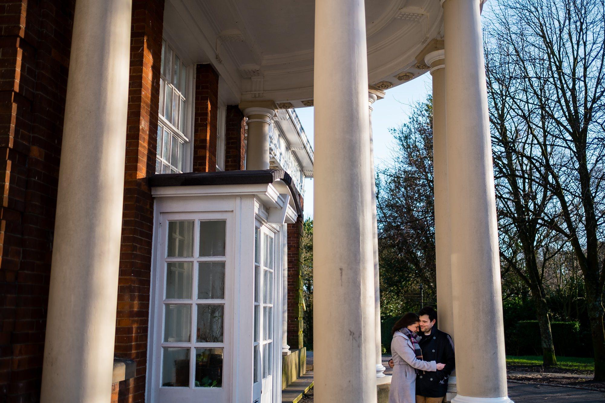 couple by doorway