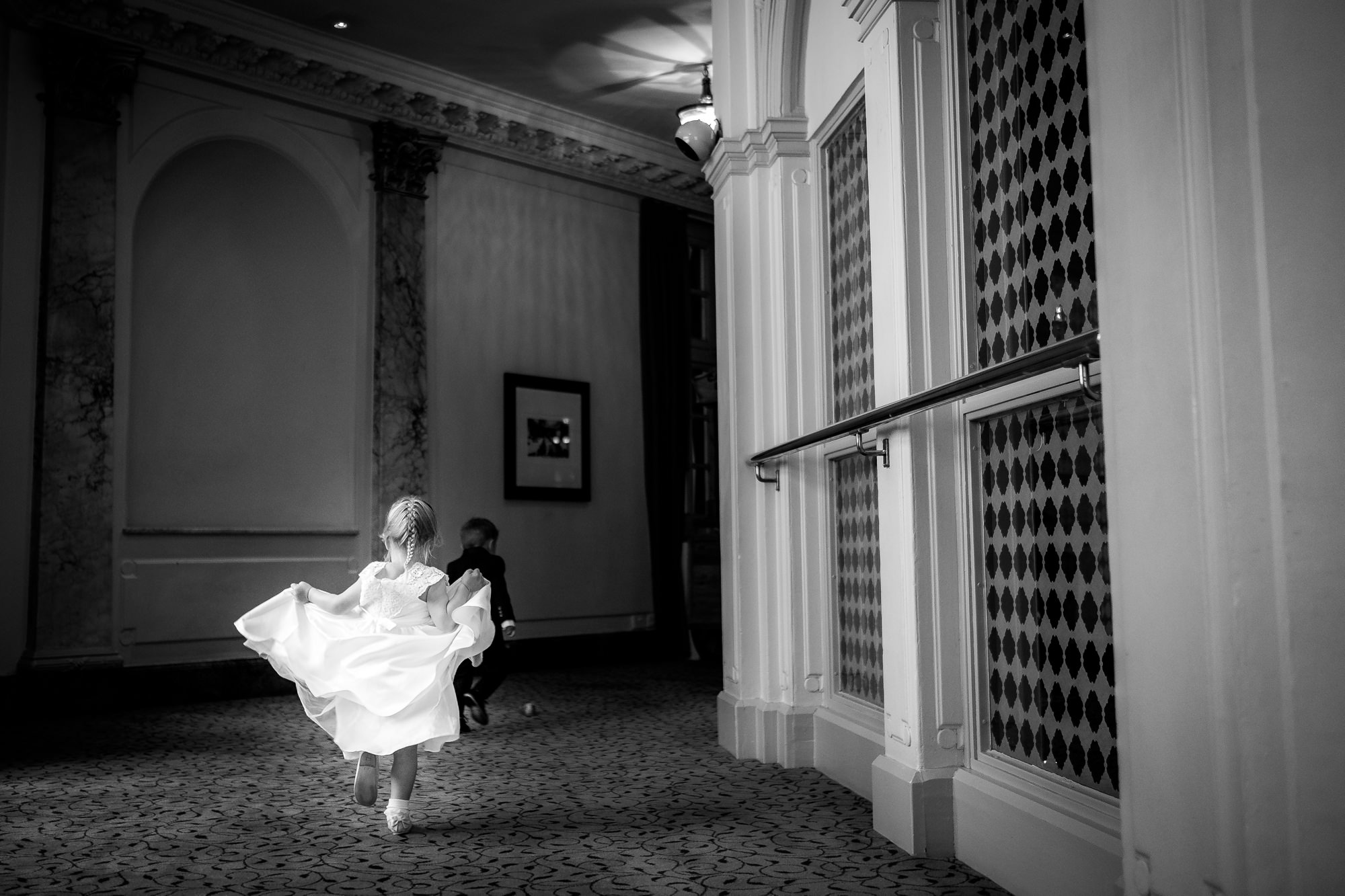 child running through the midland