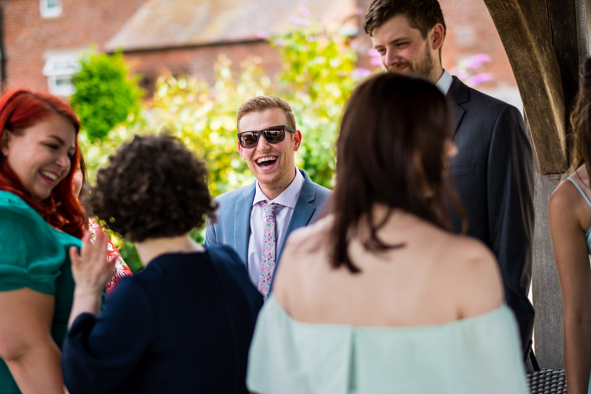 guests talking before ceremony