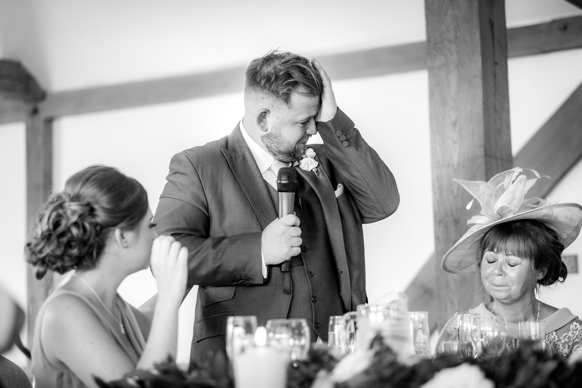 brides brother crying during speech