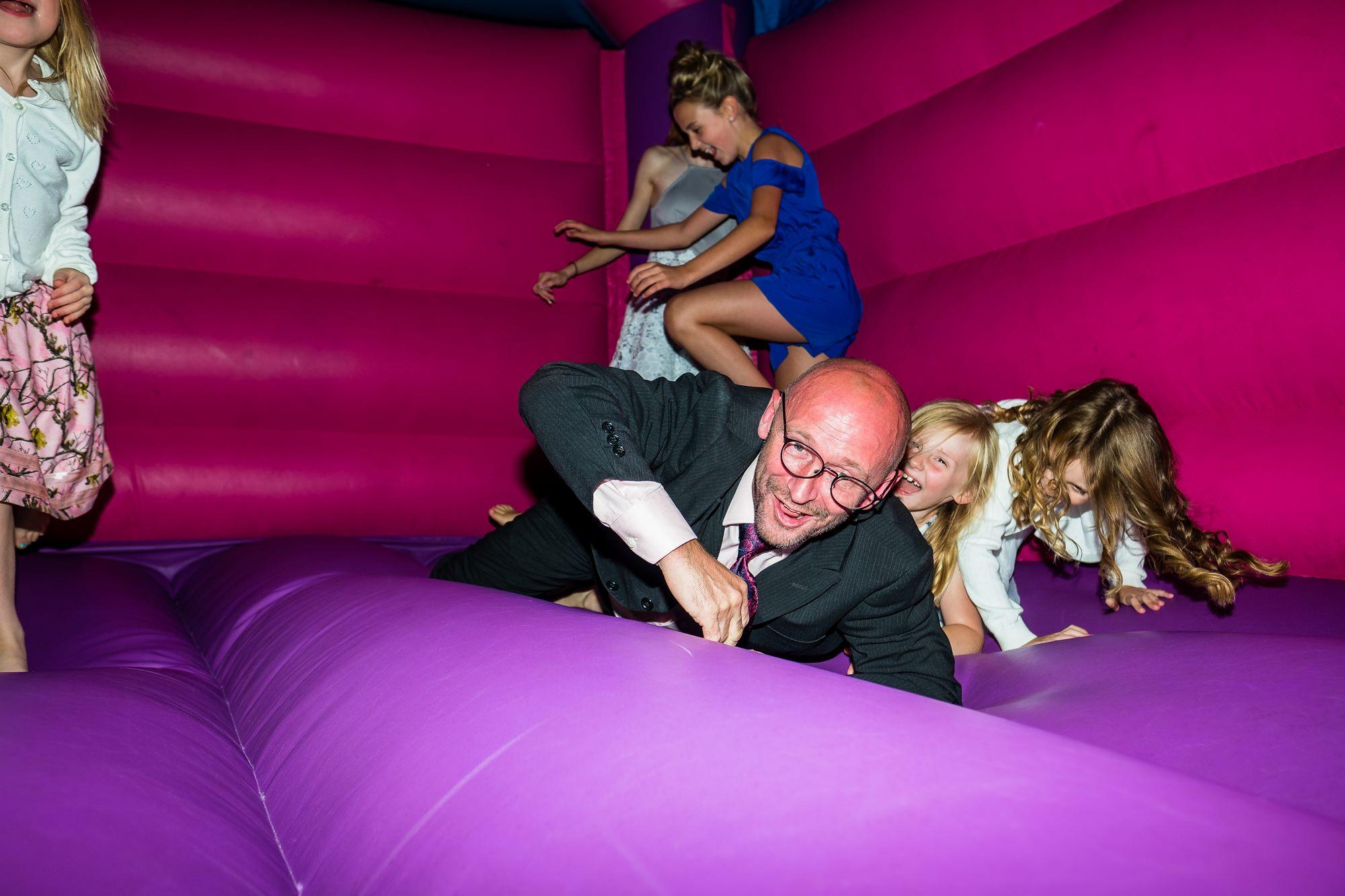 guest fallen over on bouncy castle