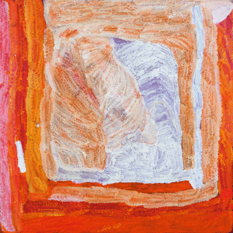 "Lydia Balbal  Martakulu  Acrylic on Belgian linen 39"" x 39"" (100 x 100 cm) Catalog #28432   SOLD"