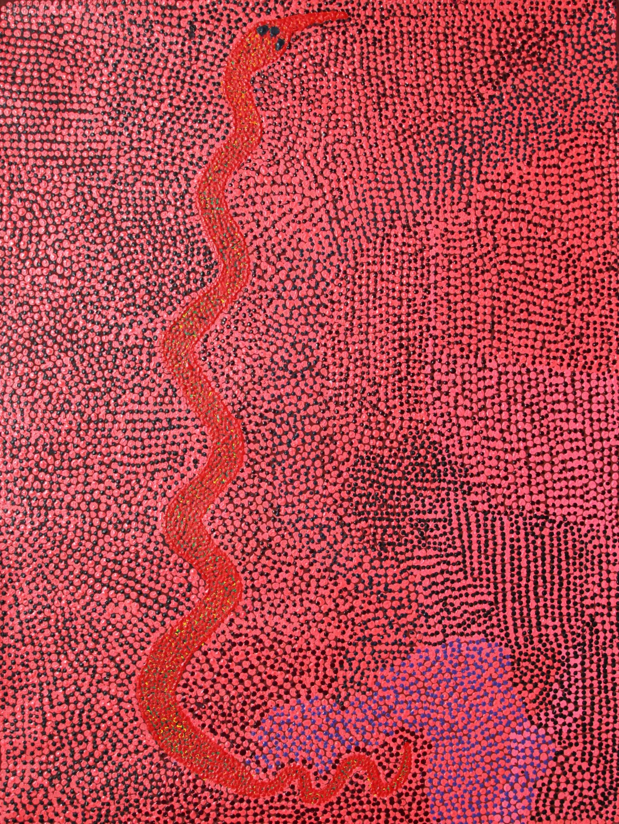 "Nyarrie Morgan  Kanaji Jila  Acrylic on linen 48"" x 36"" (122 x 91 cm) Catalog #13-323   Price Available upon Request"