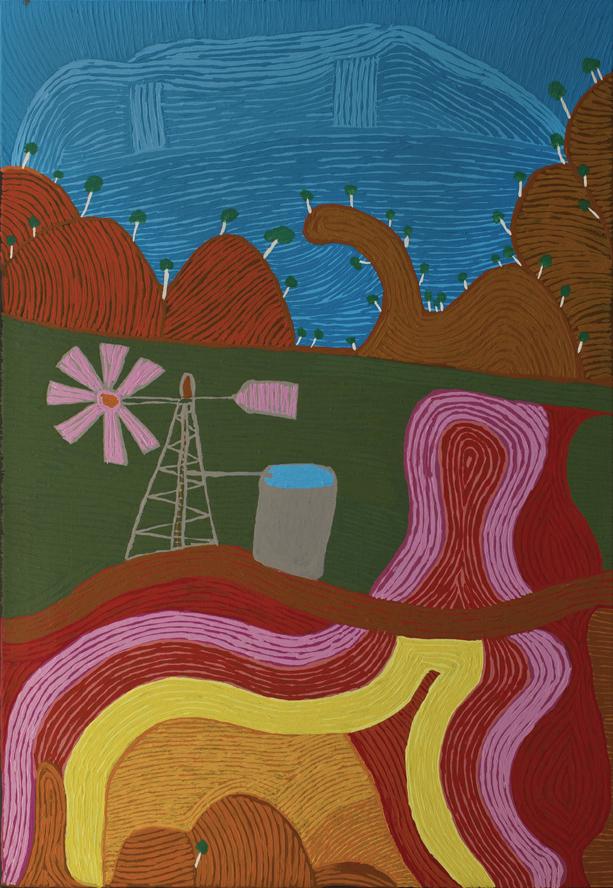 "Niningka Munkuri Lewis  Ernabella-la  Acrylic on canvas 48"" x 33"" (122 x 84 cm) Catalog #596-12   Price Available upon Request"