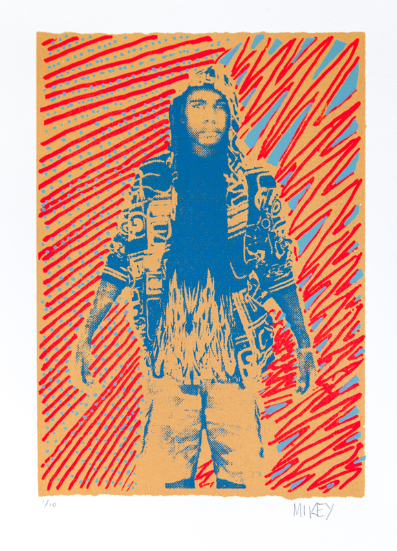 "Mikey Gurruwiwi  Ngarra  Screenprint: 12"" x 8"" (30 x 21 cm) Framed: 22"" x 17"" Edition Size 10 Fabriano paper Catalog #126F   Price Available upon Request"
