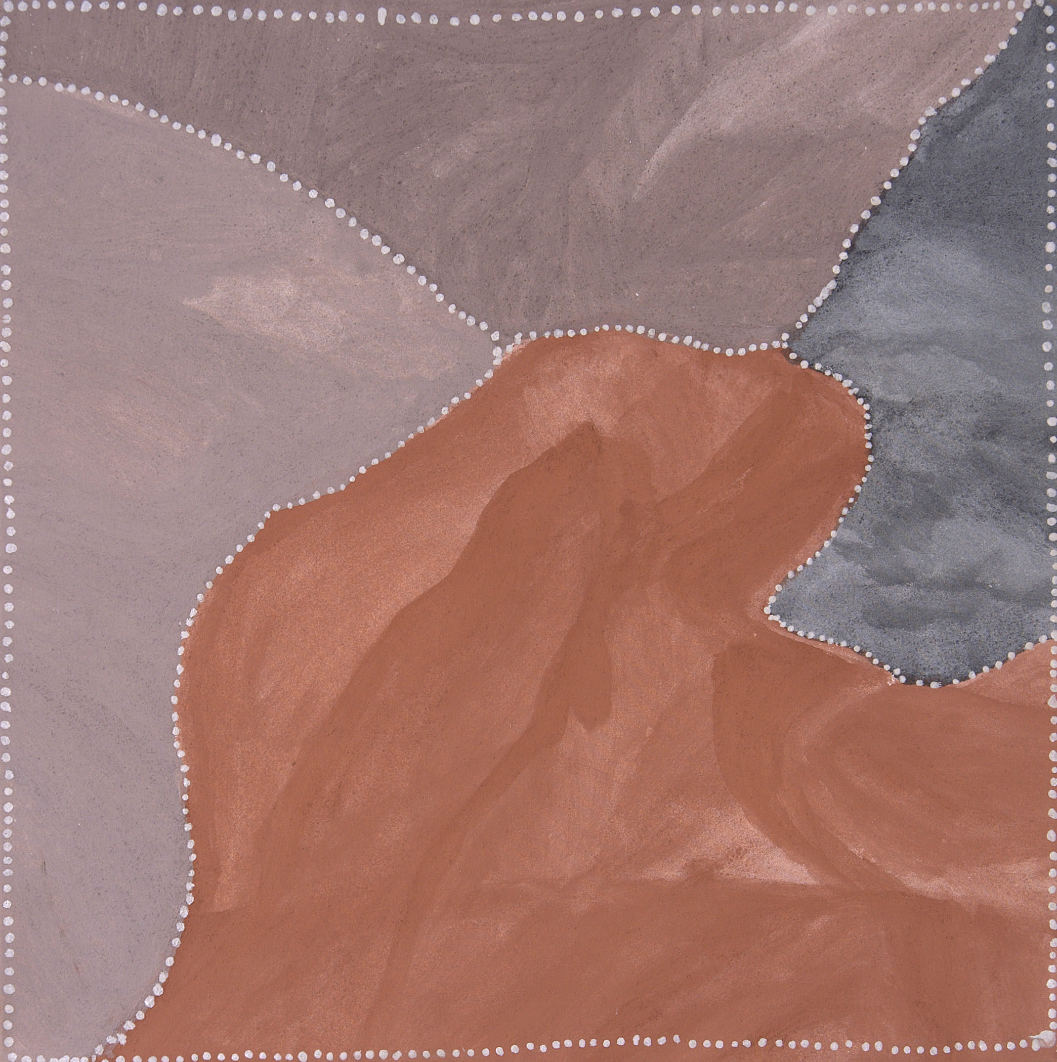 """Churchill Cann  Red Butte  Natural ocher and pigments on canvas 31.5"""" x 31.5""""(80 x 80 cm)   EMAIL INQUIRY"""