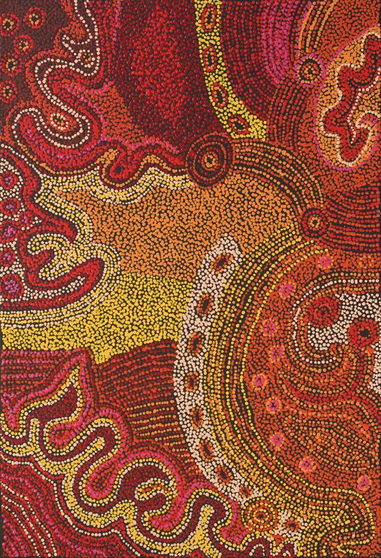 Alison Munti Riley  Ngayuku Ngura  Acrylic on canvas (100 x 68 cm) Catalog #664-12   Price Available upon Request