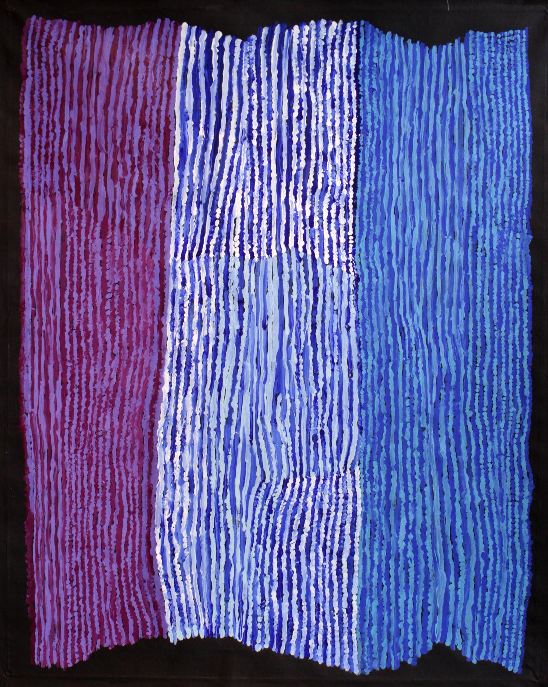 "Ray Ken  Tali - Sand dune  Acrylic on Belgian linen 59.8"" x 48"" (152 x 122 cm) Tjala Arts Catalog #434-16   EMAIL INQUIRY"