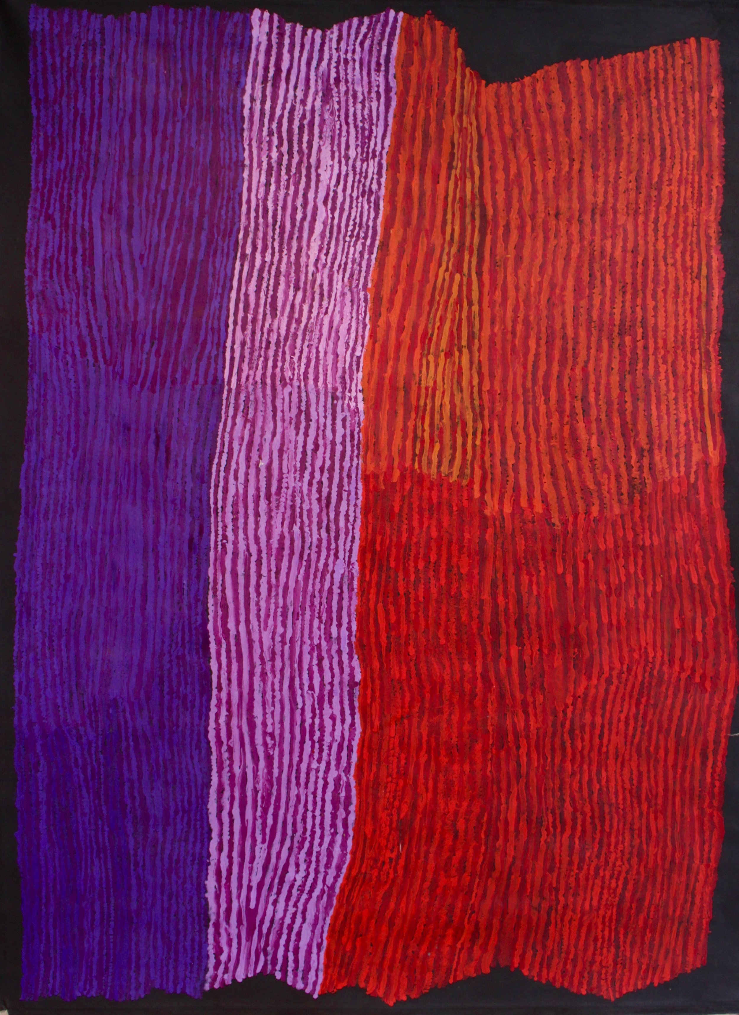 "Ray Ken  Tali - Sand dune  Acrylic on Belgian linen 78"" x 60"" (198 x 152.5 cm) Tjala Arts Catalog #392-16   EMAIL INQUIRY"