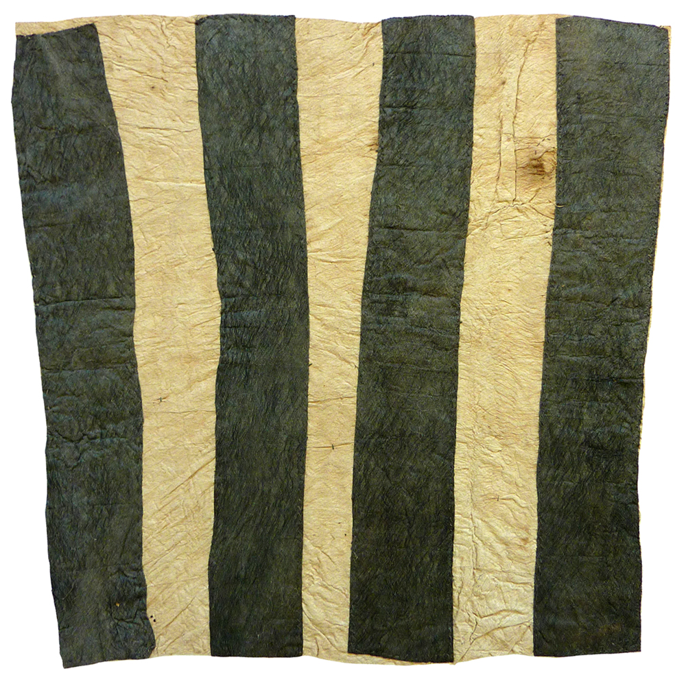 Sarah Ugibari  Chief's prestige cloth, 2015  atural earth pigments on barkcloth 77 x 72 cm Omie Catalog #15-034   EMAIL INQUIRY
