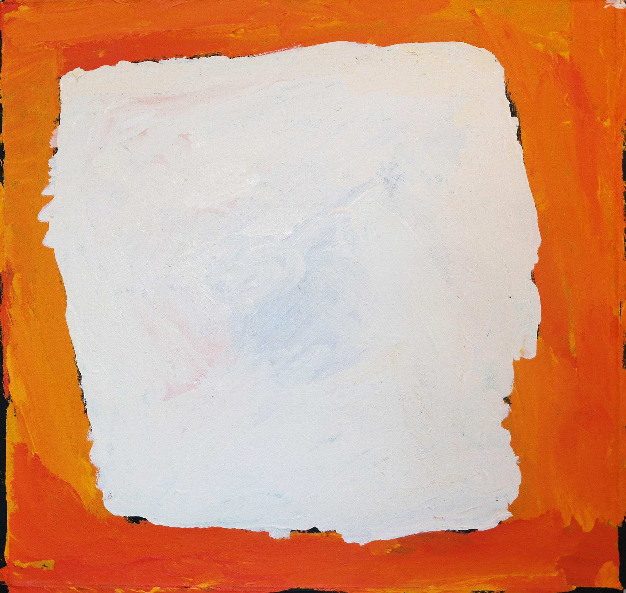 """Sandy Brumby  Victory Downs  Acrylic on canvas 24"""" x 24"""" (61 x 61 cm) Ninuku Arts Catalog #14-010   EMAIL INQUIRY"""