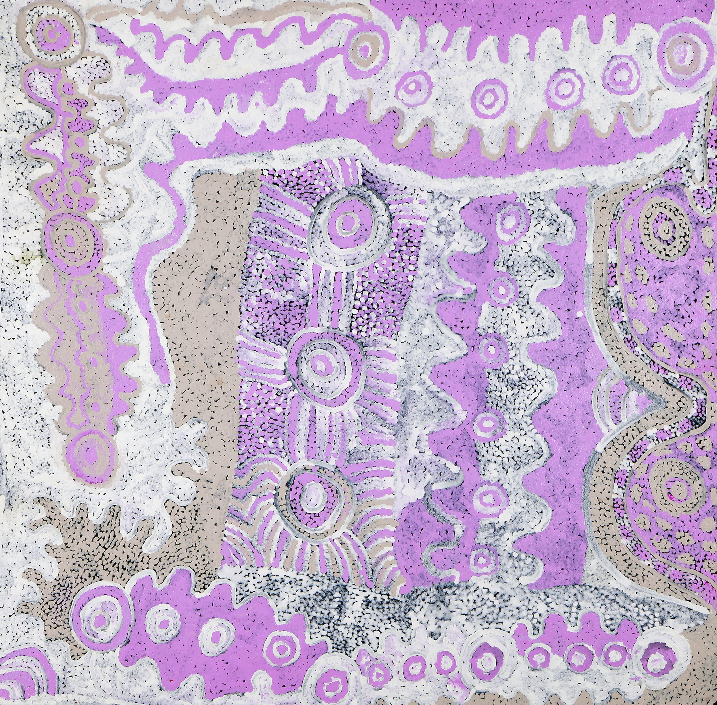 Malara, 2012  100 x 100 cm Acrylic on Canvas Ernabella Arts Catalog #58-13   EMAIL INQUIRY