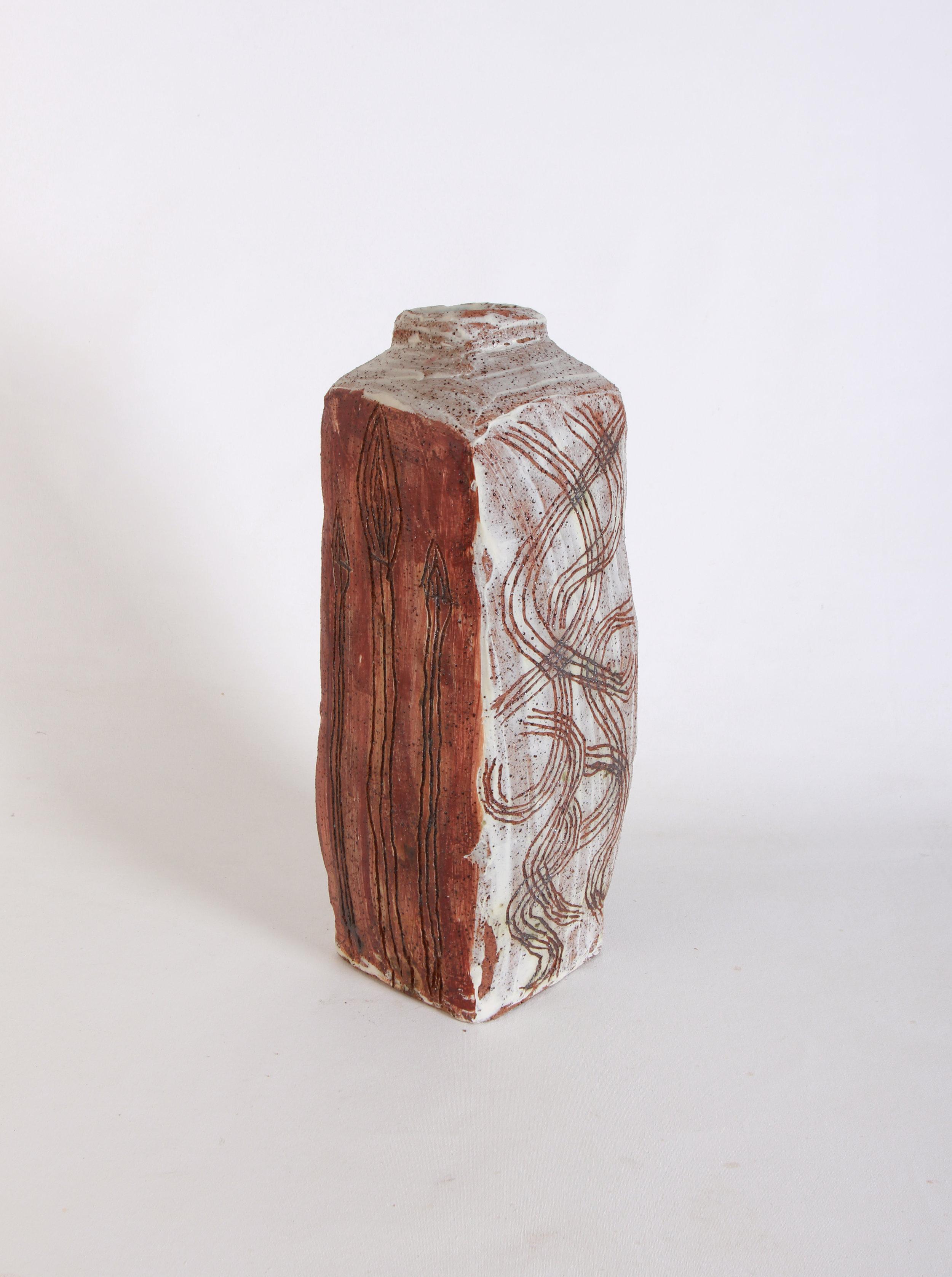 RUPERT JACK  Kulata Tjuta Munu Maku Tjukurpa, 2017  430H x 210mm Stoneware Catalog #258C-17    EMAIL INQUIRY