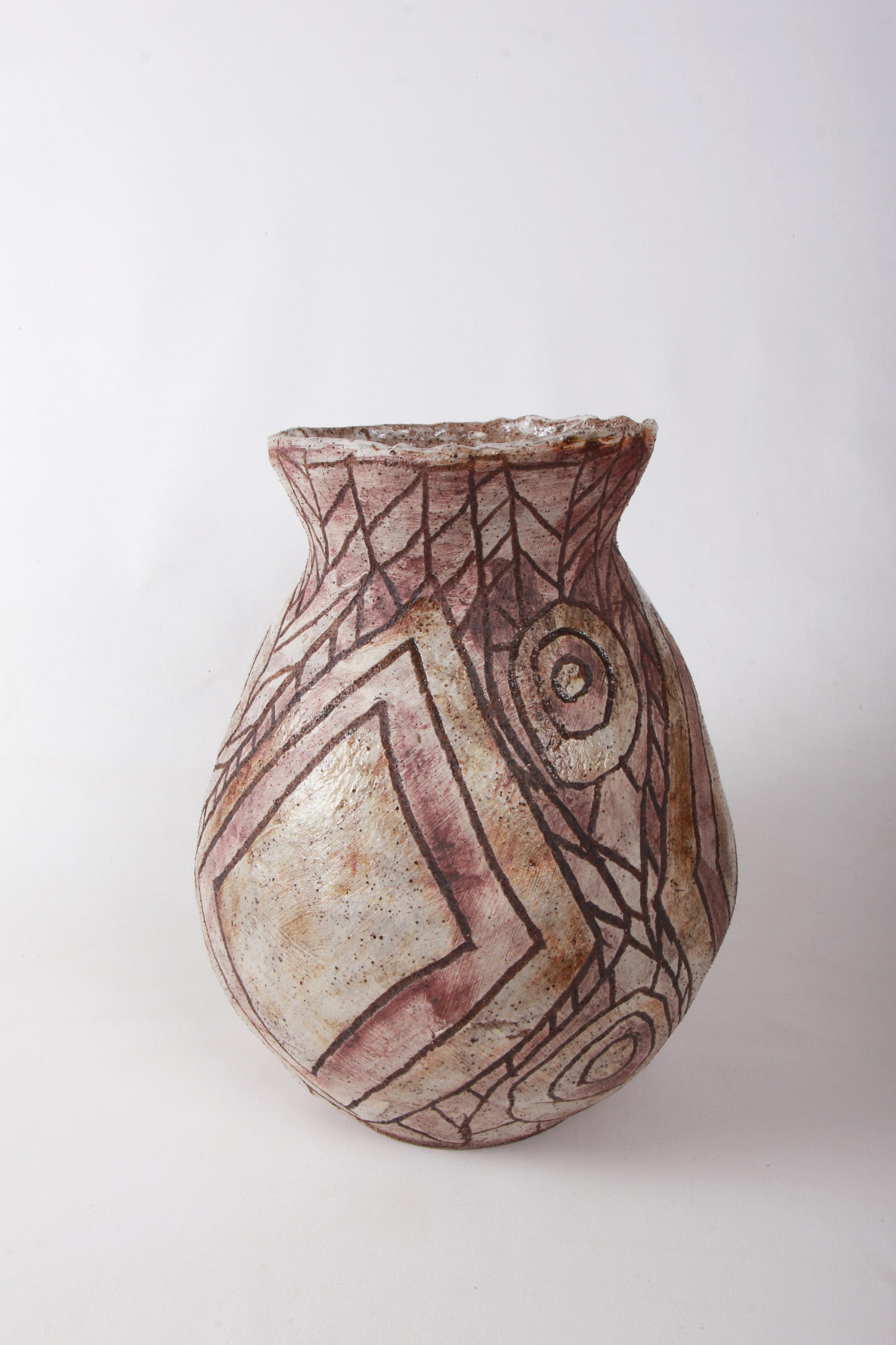 PEPAI JANGALA CARROLL  Walungurru, 2017   420H x 265mm Stoneware Catalog #920C-17   EMAIL INQUIRY