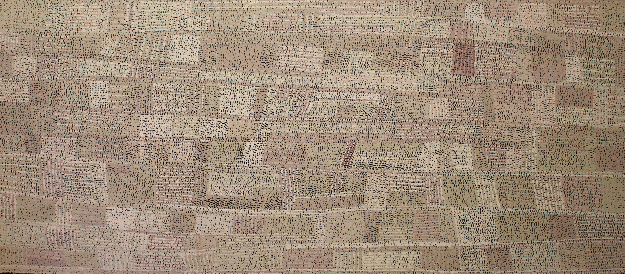 YURIPYA LIONEL  Anumara, 2017  670 x 1500mm Acrylic on Linen Catalog #335-17   EMAIL INQUIRY