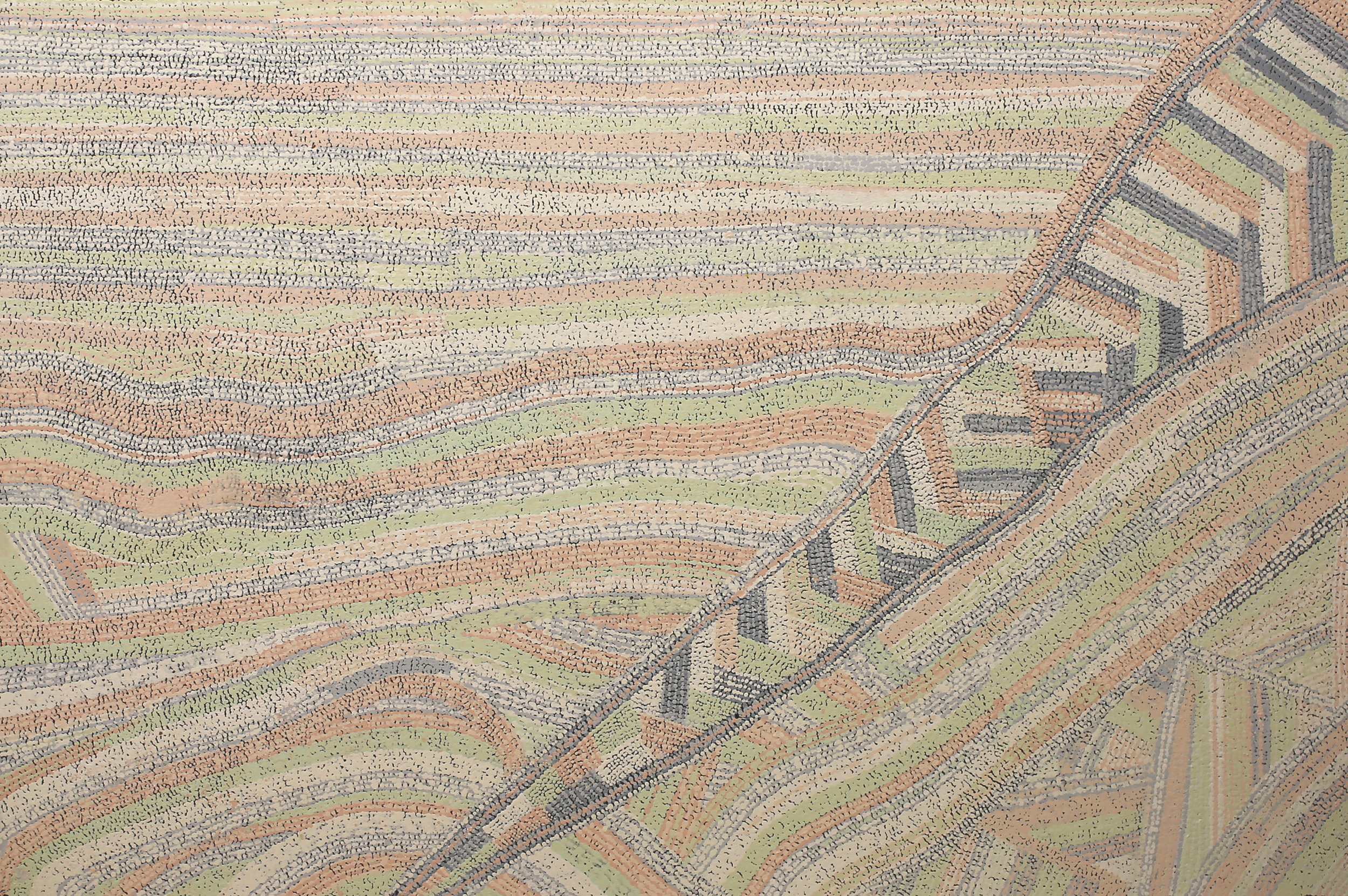 YURIPYA LIONEL  Anumara, 2017  1000 x 1500mm Acrylic on Linen Catalog #402-17   EMAIL INQUIRY