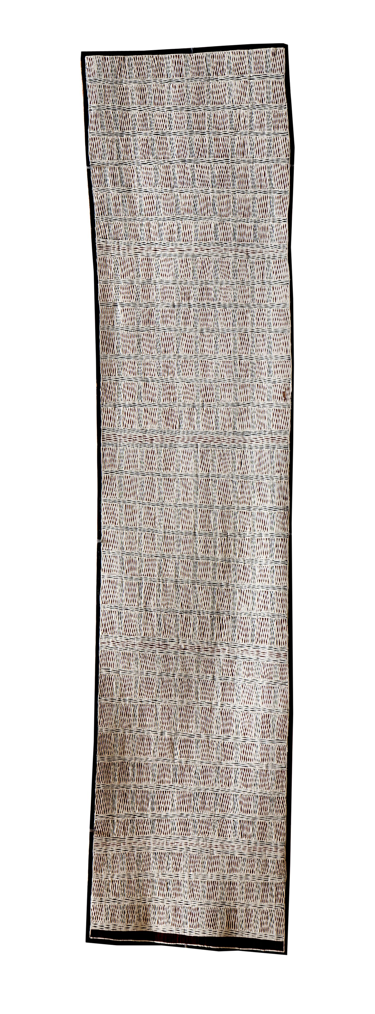 Marrnyula Munungurr  Untitled  Natural earth pigments on bark 36 x 160cm  Buku Larrnggay Mulka #4072P   EMAIL INQUIRY