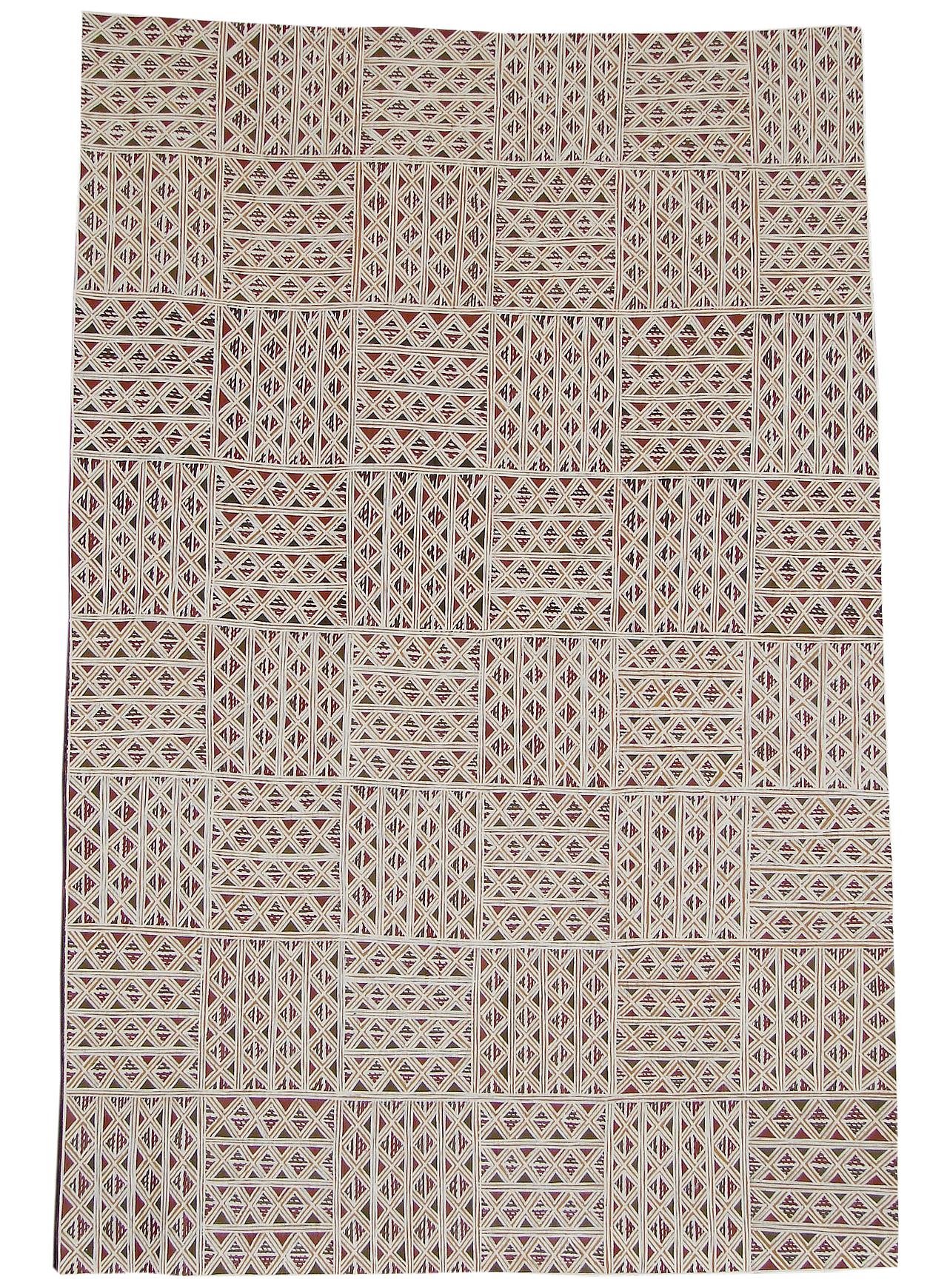 Djirrirra Wunungmurra  Untitled  Natural earth pigments on bark 75 x 65cm  Buku Larrnggay Mulka #4035T   EMAIL INQUIRY
