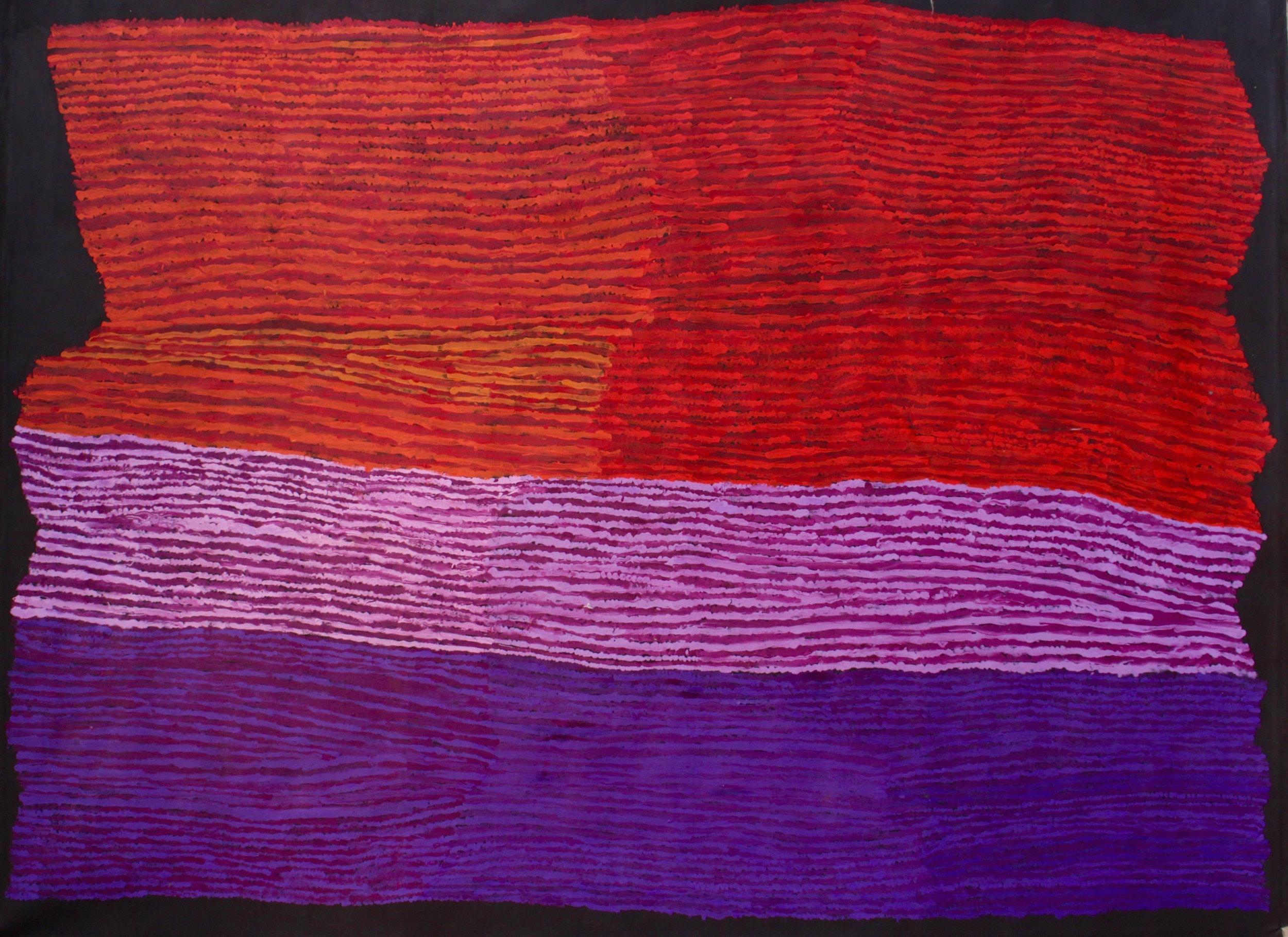 "KUNMANARA (RAY) KEN  Tali - Sand Dune  Acrylic on Belgian linen 1520 x 1980 mm (60 x 78"") Tjala Arts Catalog #392-16   EMAIL INQUIRY"
