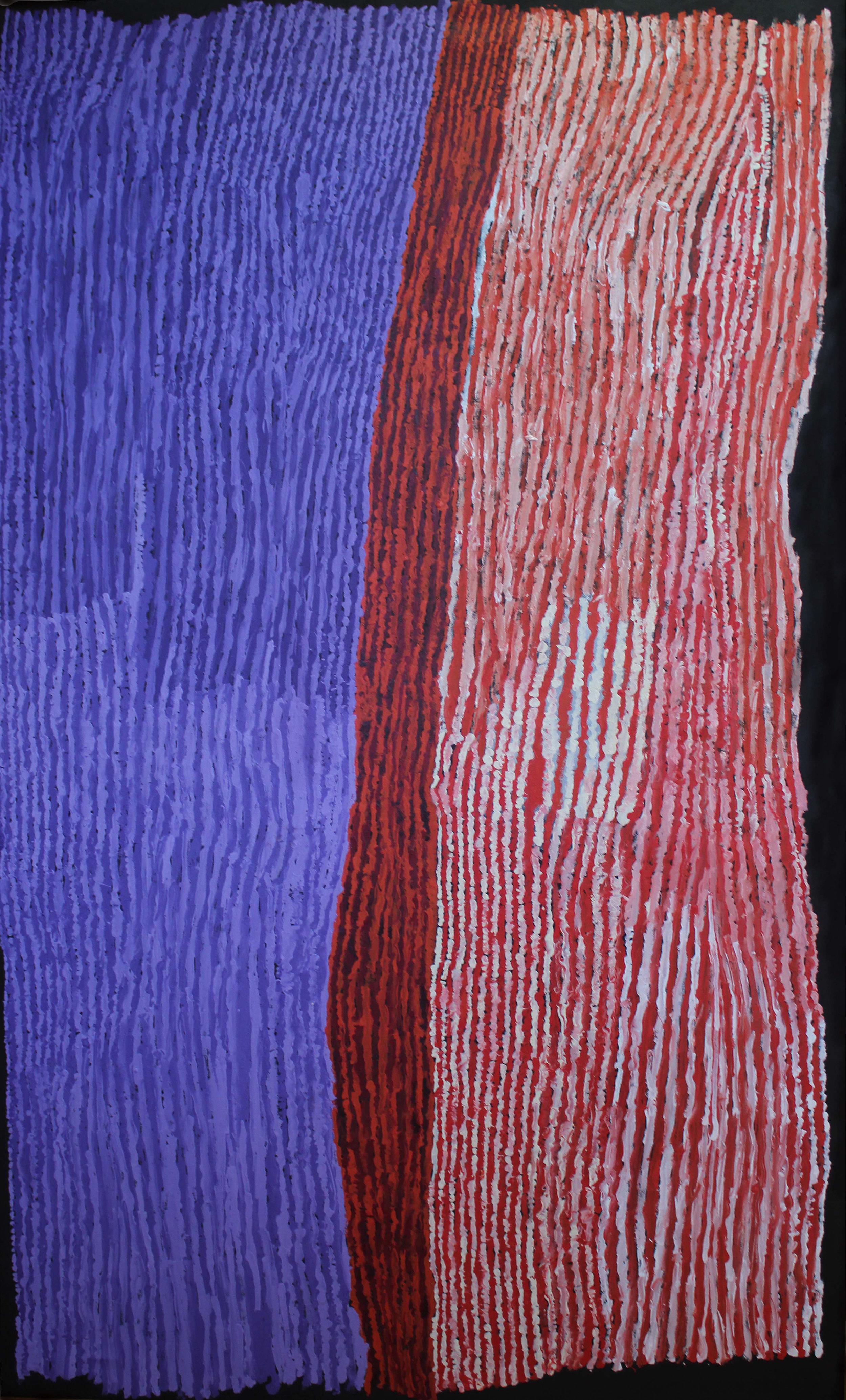 "KUNMANARA (RAY) KEN  Tali - Sand Dune  Acrylic on Belgian linen 1220 x 1980 mm (48 x 78"") Tjala Arts Catalog #394-16   EMAIL INQUIRY"