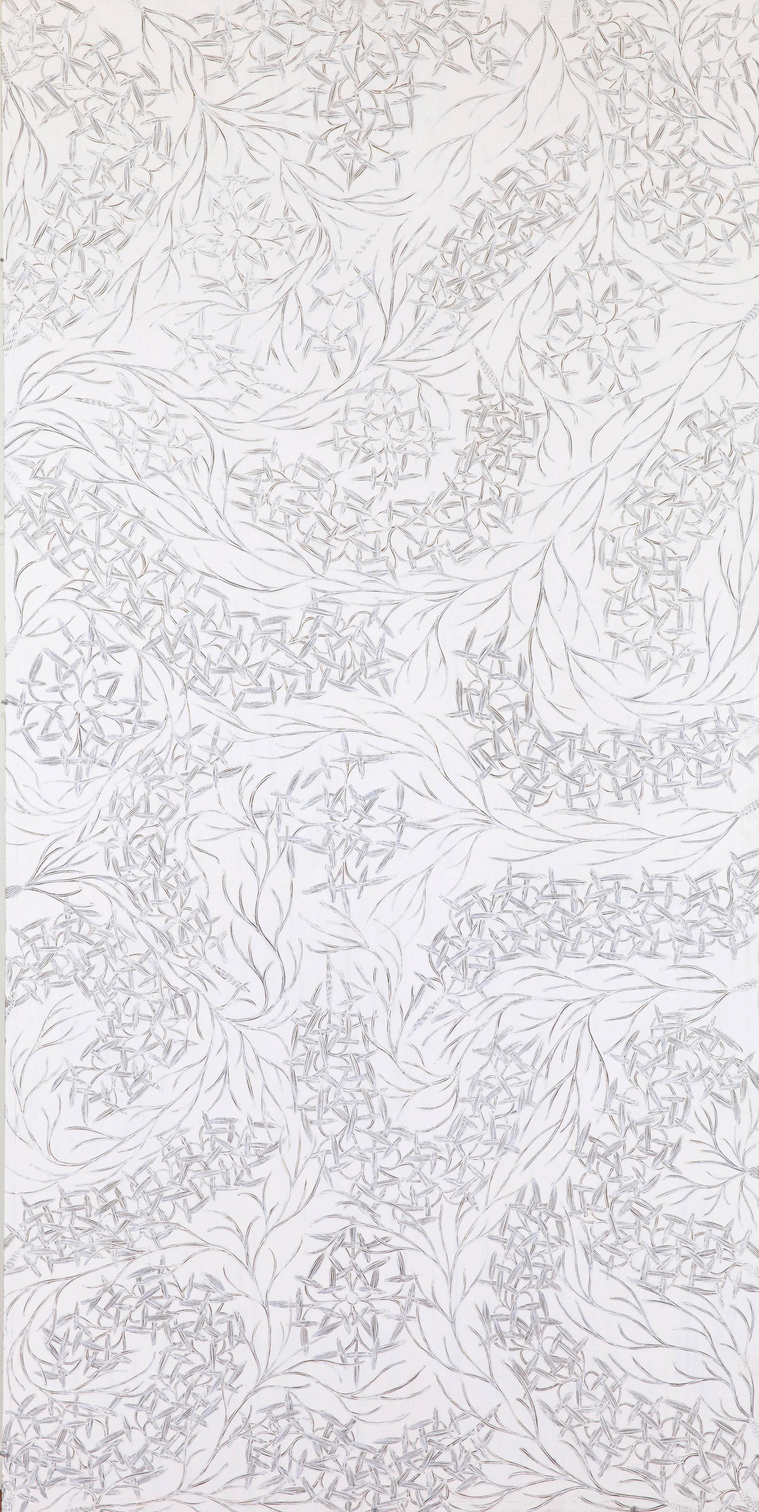 "DJIRRIRRIA WUNUNGMURRA  Yukuwa  Natural pigments on board 95"" x 47"" (240 x 120 cm) Buku Arts Catalog #4655P   EMAIL INQUIRY"