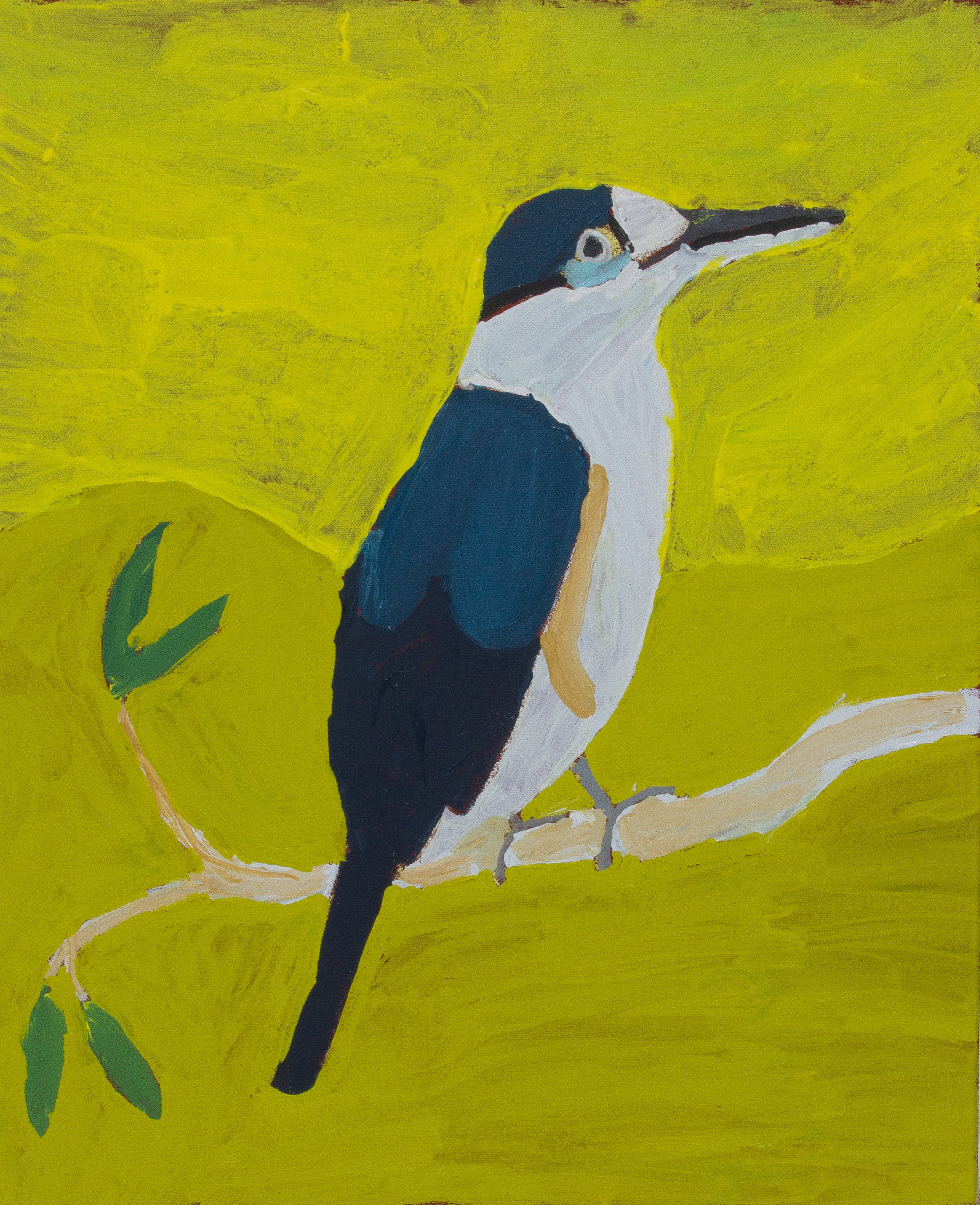 "Nyangulya Katie Nalgood  Kookaburra  22 x 18"" (56 x 45.5 cm) acrylic on linen Spinifex Hills Artists Catalog #18-469  EMAIL INQUIRY"
