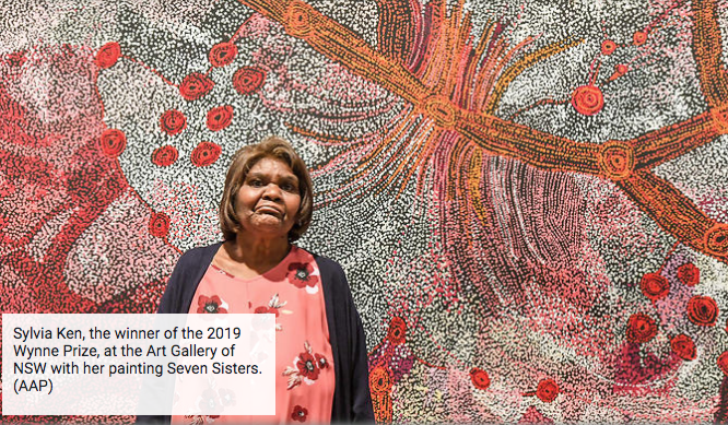 APY Lands artist receives prestigious landscape prize, makes history as fourth consecutive year an Indigenous person has claimed the honors.