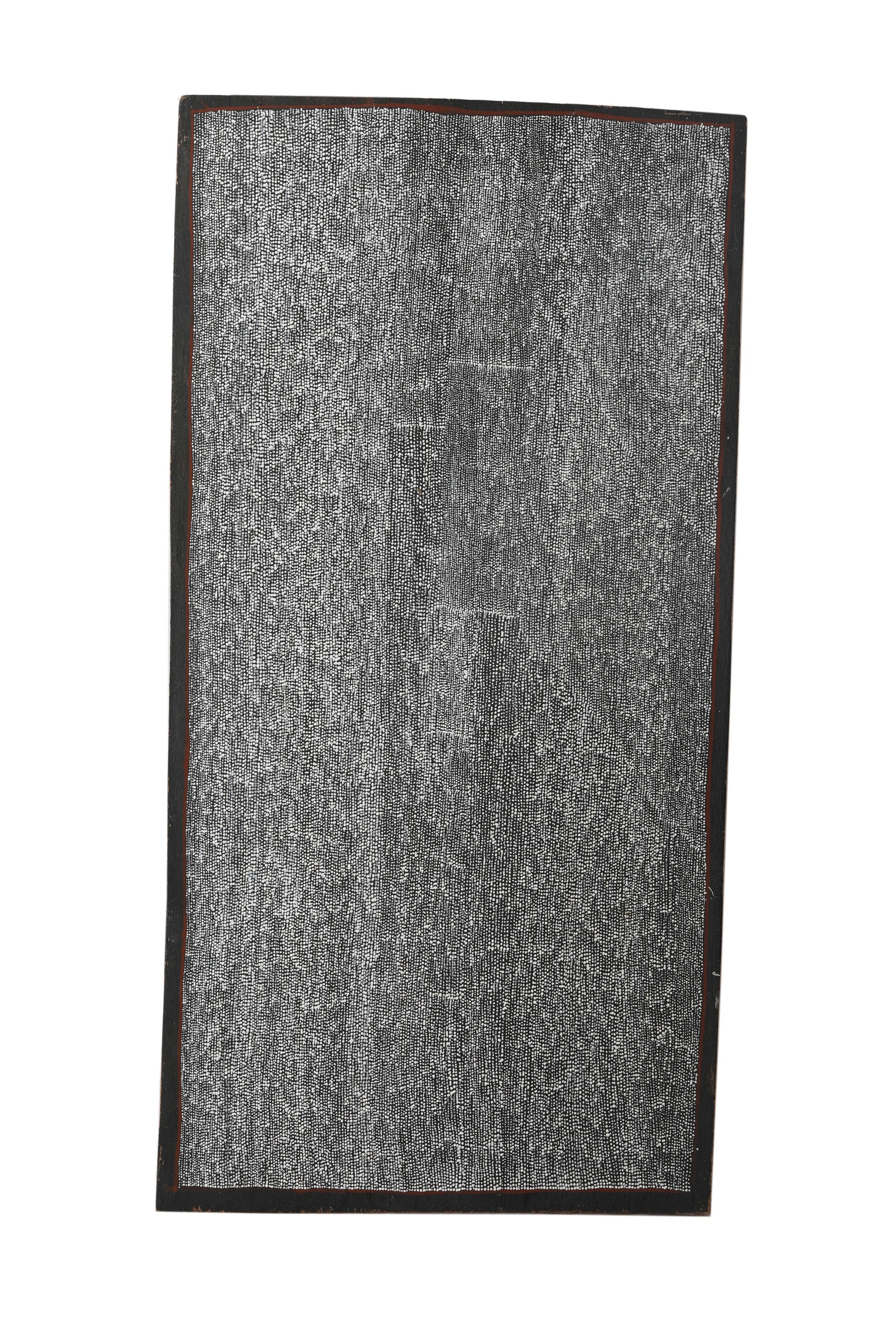 Owen Yalandja  Ngalkodjek Yawkyawk  Natural pigment on bark 21 x 42cm Maningrida Catalog #901-19  EMAIL INQUIRY