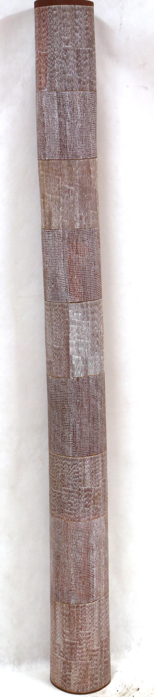 Owen Yalandja Ngalkodjek Yawkyawk (Lorrkon)  Natural pigment on carved ironwood 192 x 16 x 16cm Maningrida Catalog #2868-18  EMAIL INQUIRY