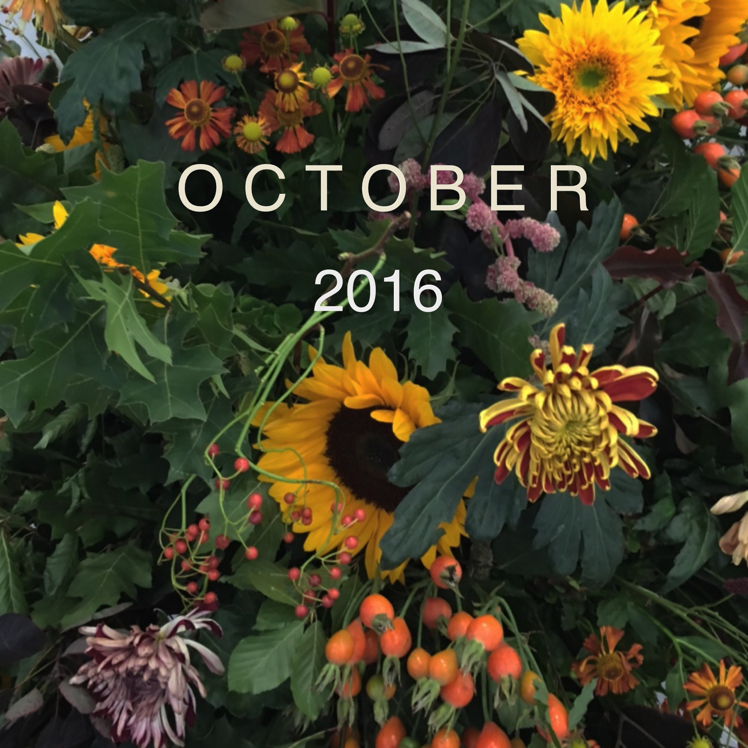 Autumn flower urn