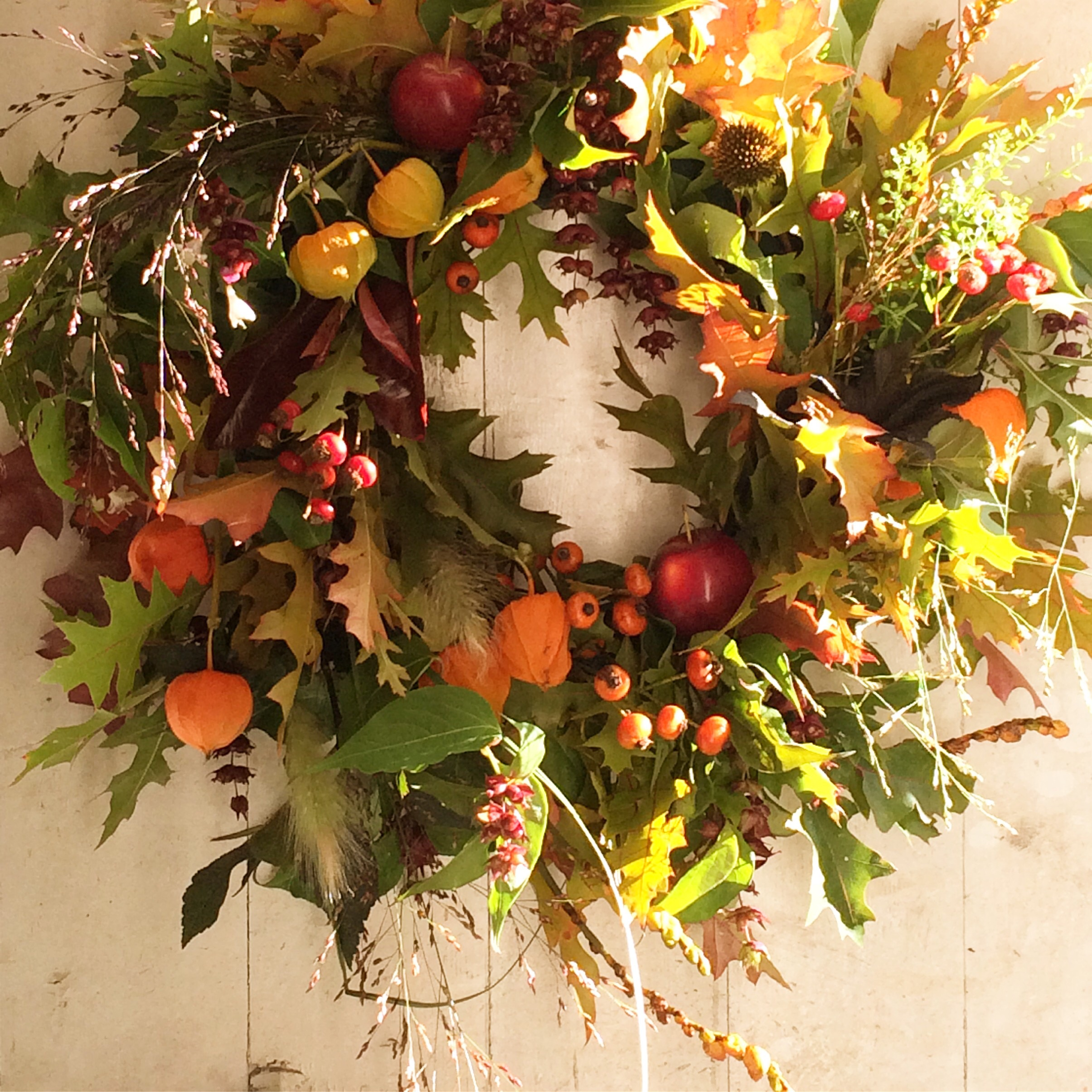 Autumn Wreath at Cowdray Cafe